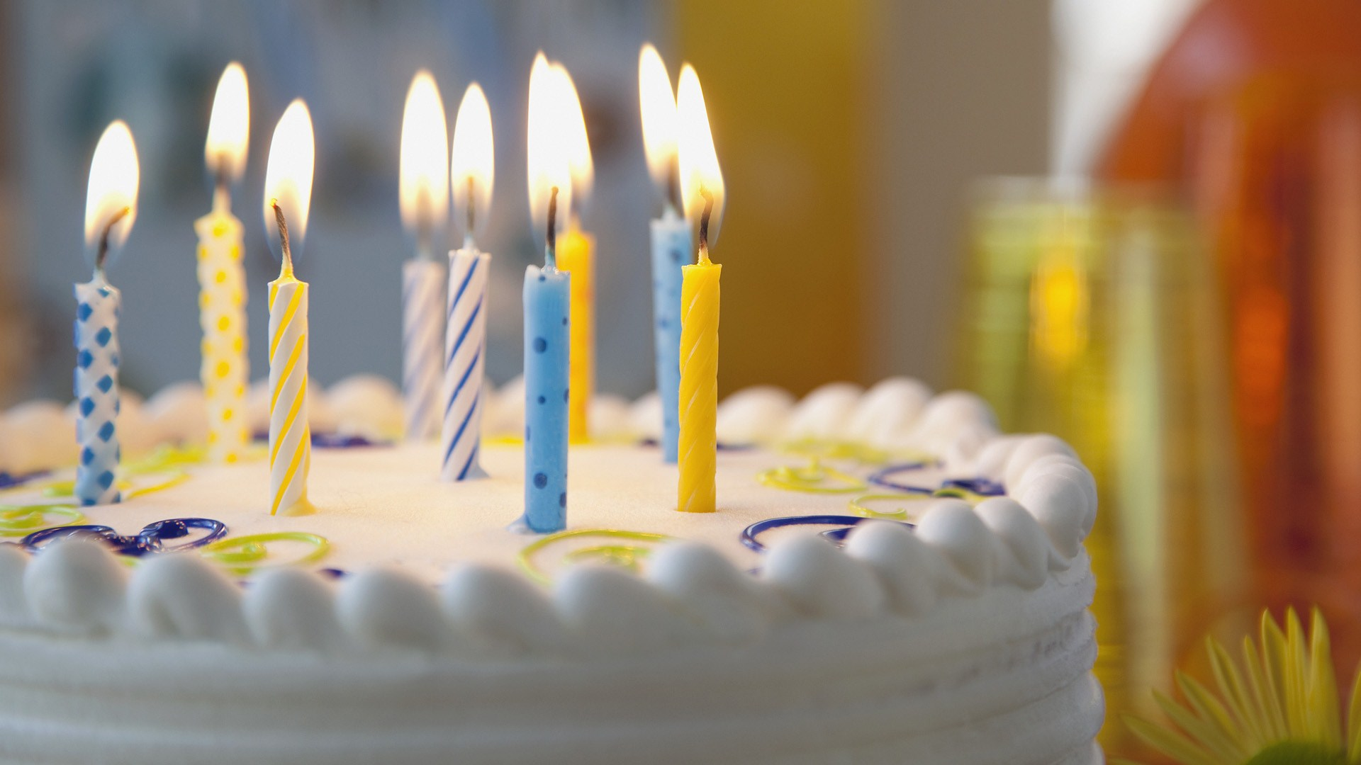 Cake Candles Happy Birthday