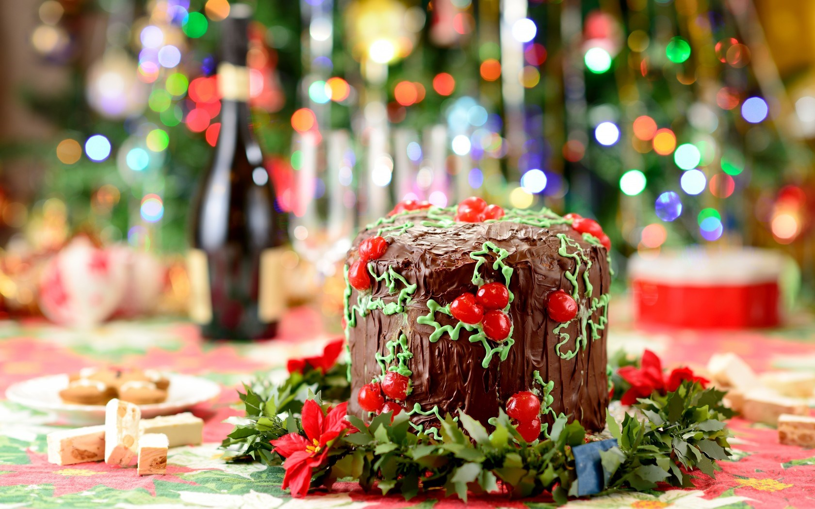 Cake Chocolate Food Holiday Winter Christmas New Year