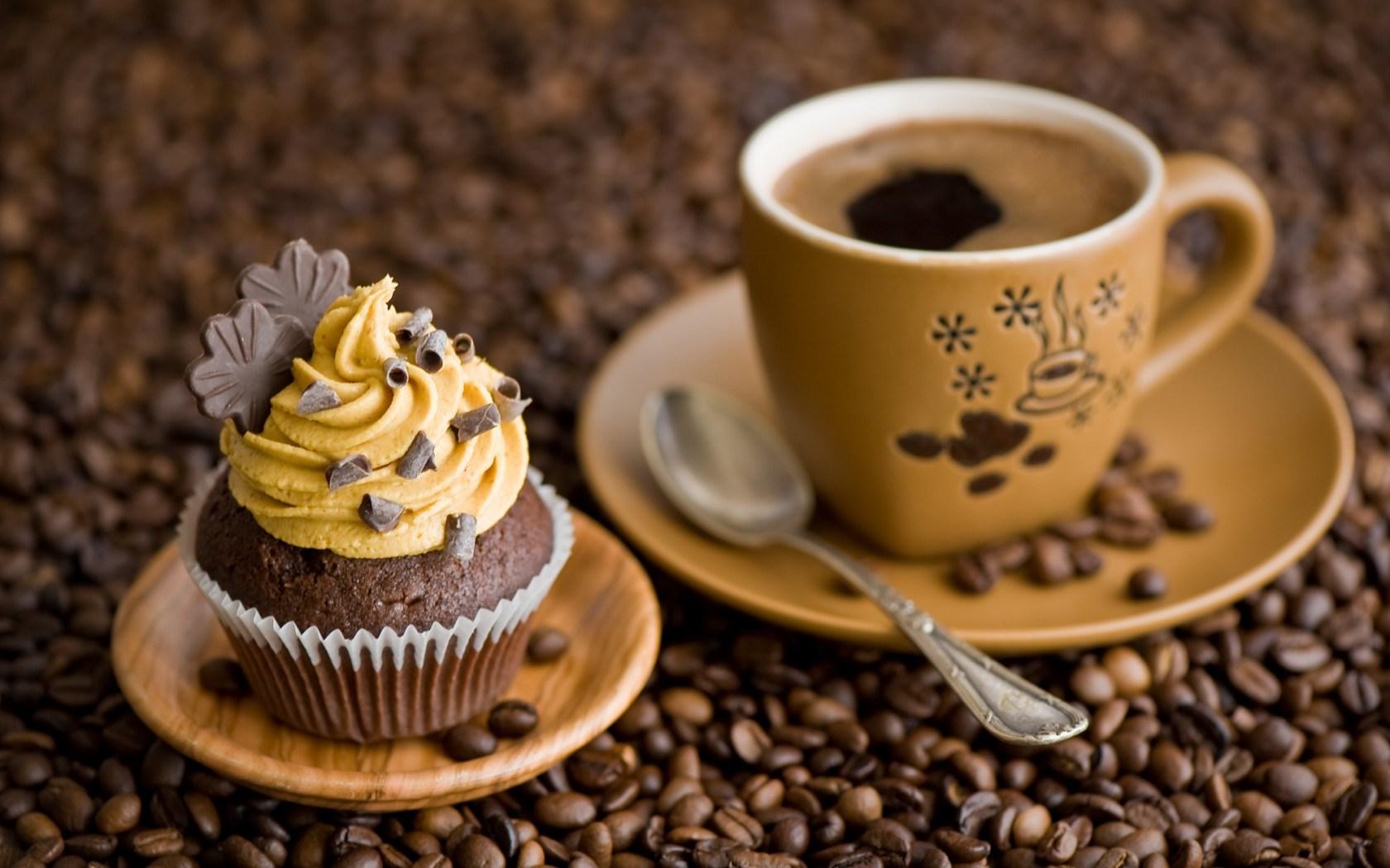 Cake Cream Chocolate Cup Coffee