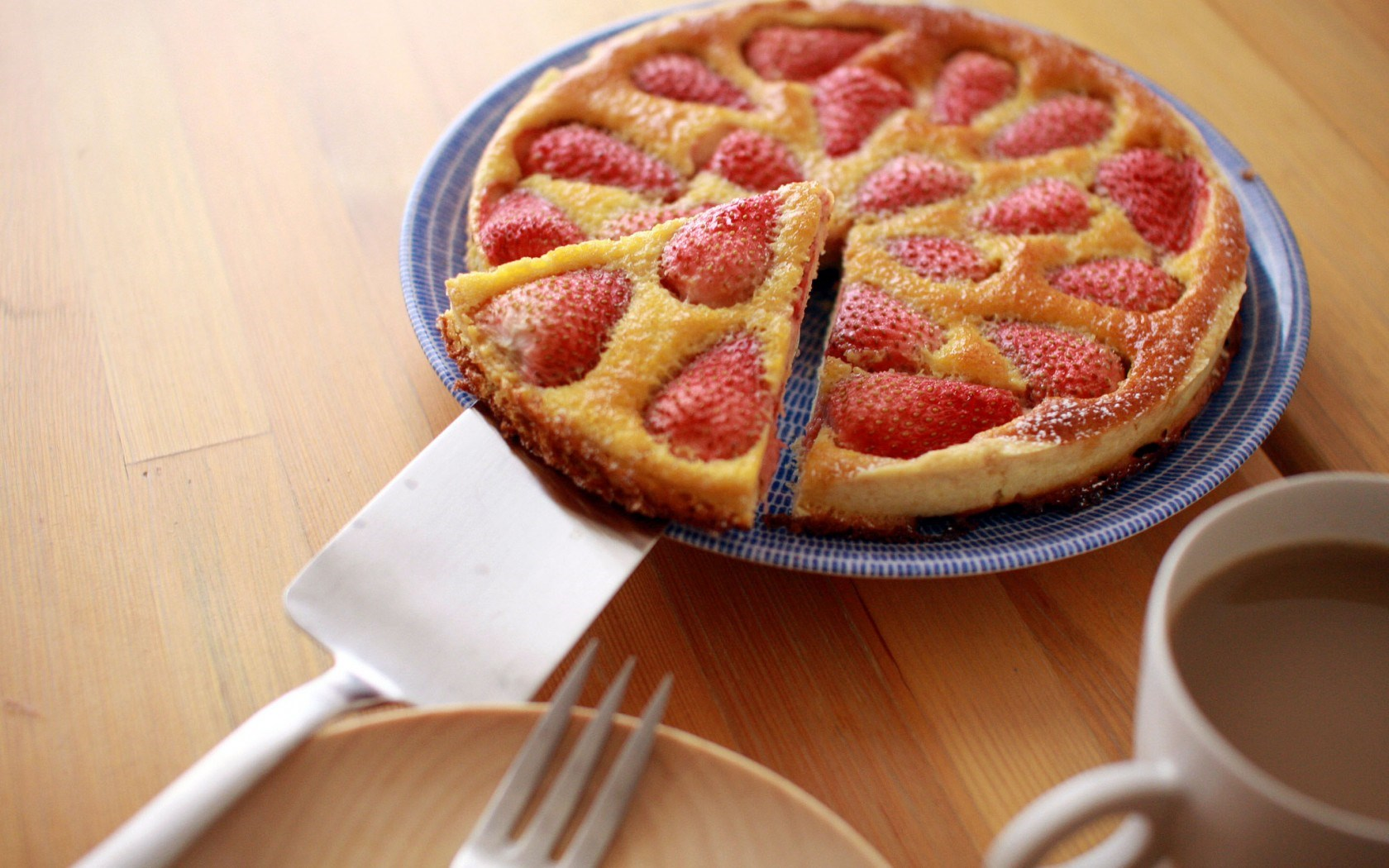 Cake Pastries Strawberries Table Plate
