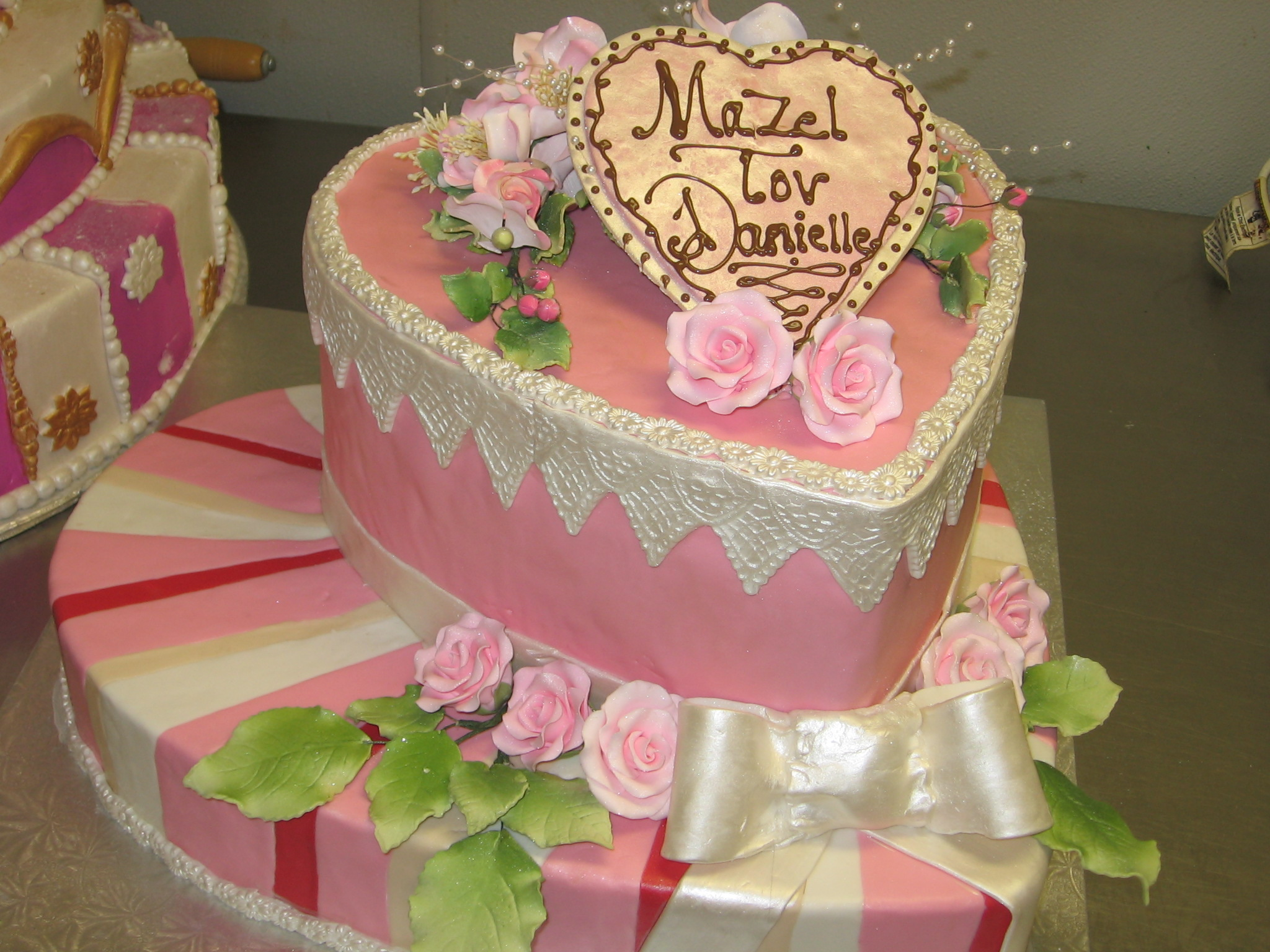 Cake Pink Hearts