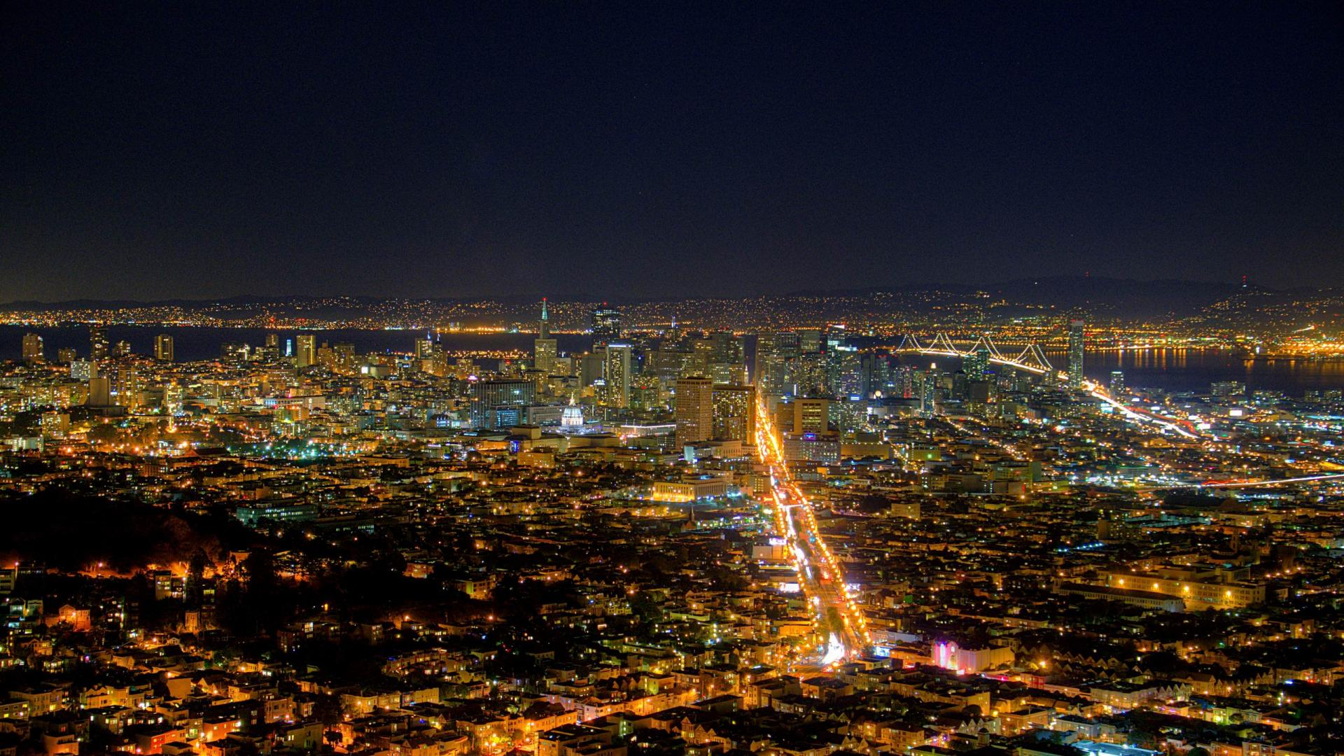 California Night Skyline