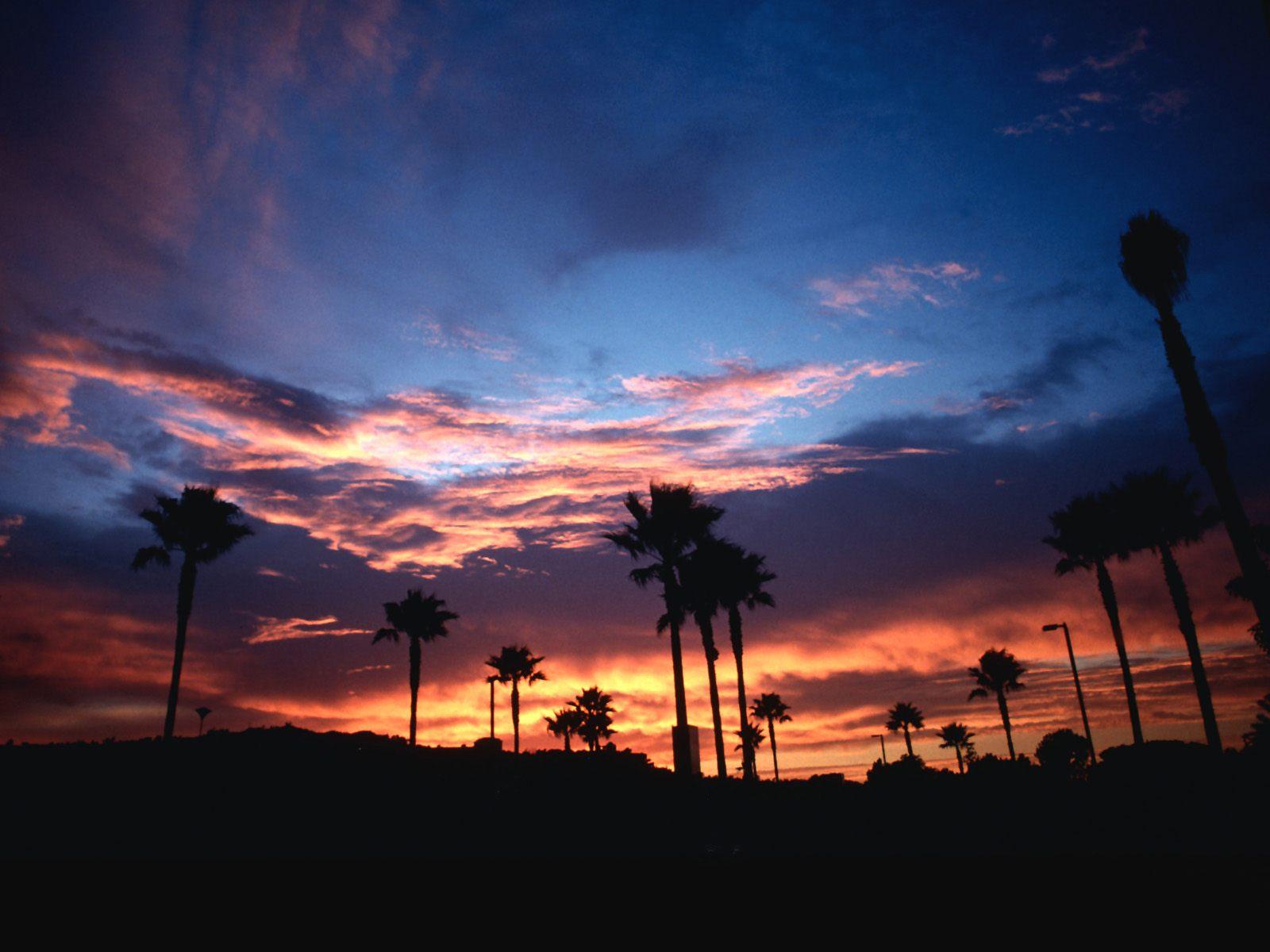 California Wallpaper: Charming California Sunset Wallpaper 1600x1200px