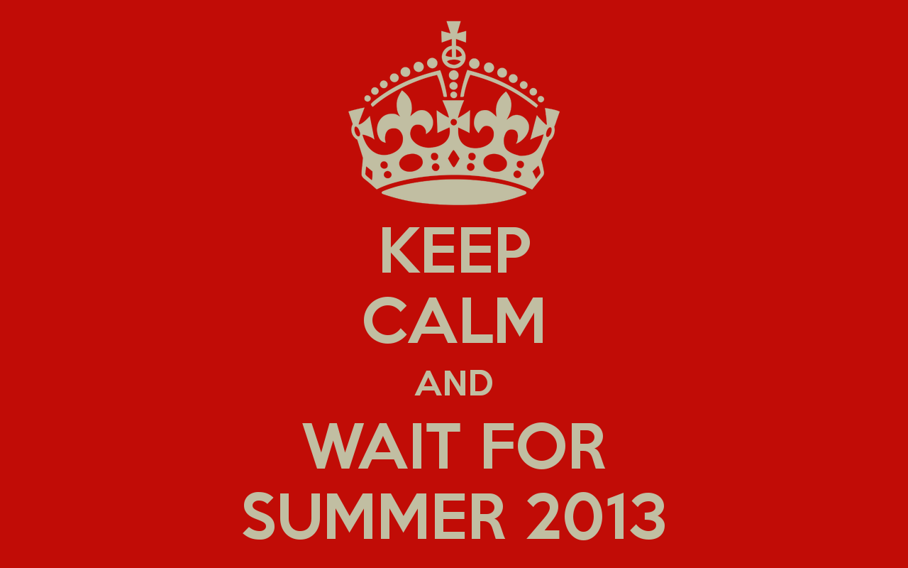 Keep Calm And Wait For Summer Desktop Wallpaper
