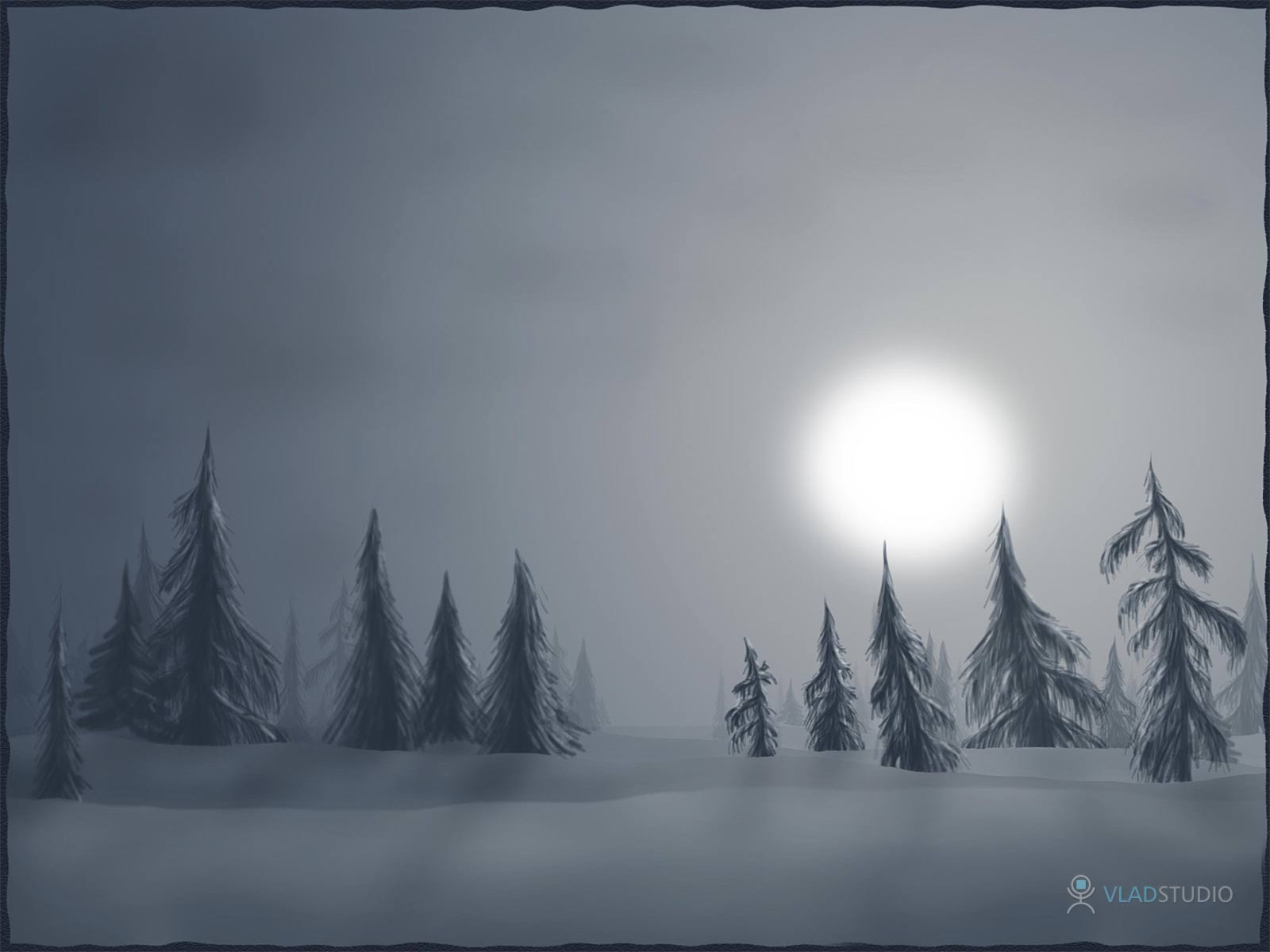 Calm Winter Backgrounds
