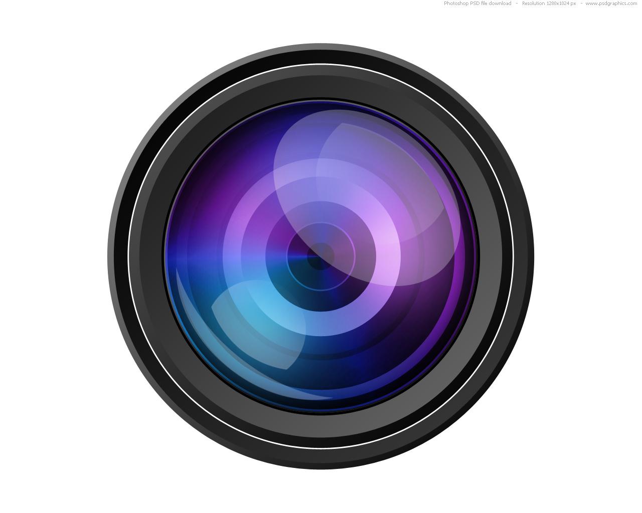 ... Camera lens icon