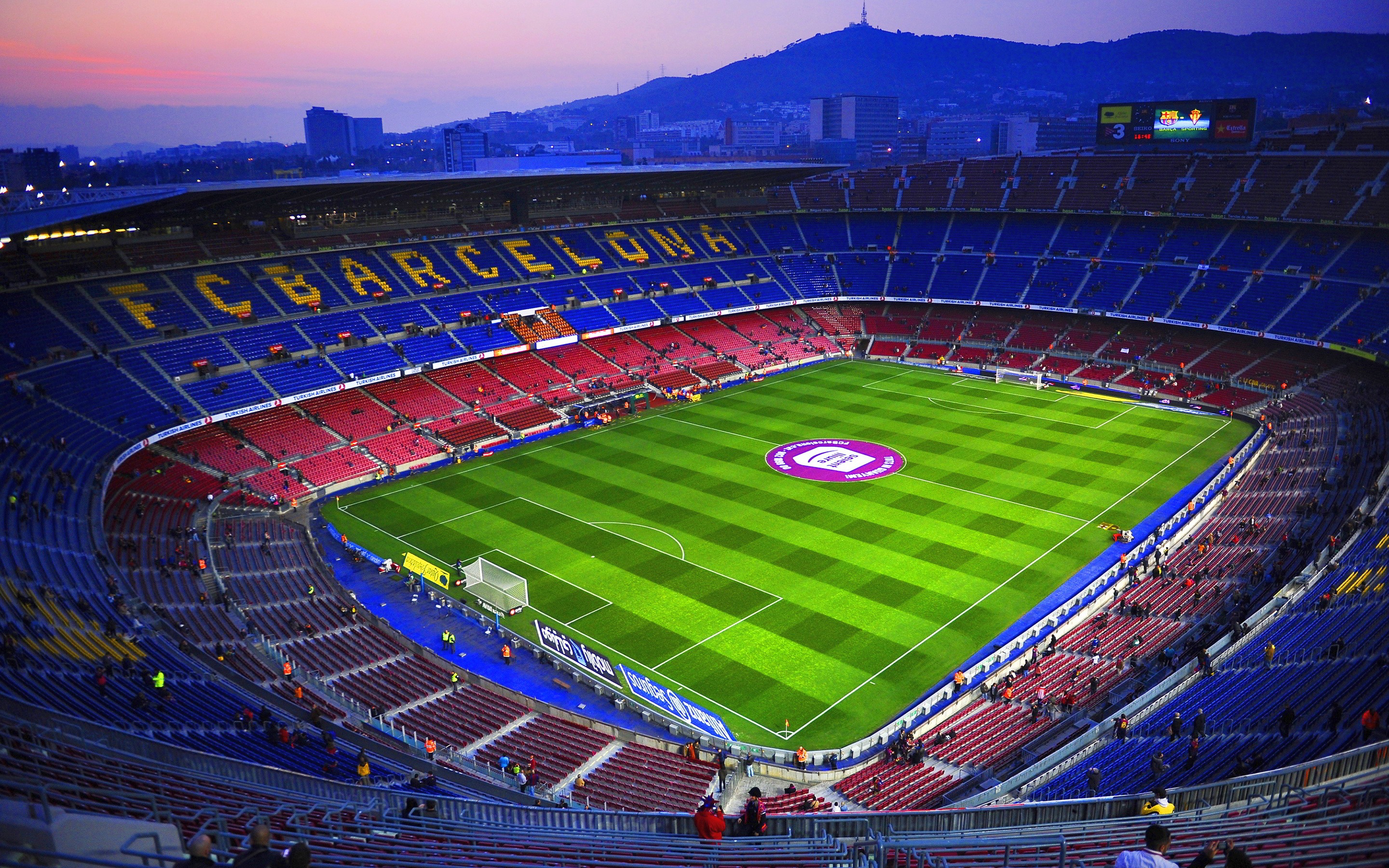 Camp nou evening
