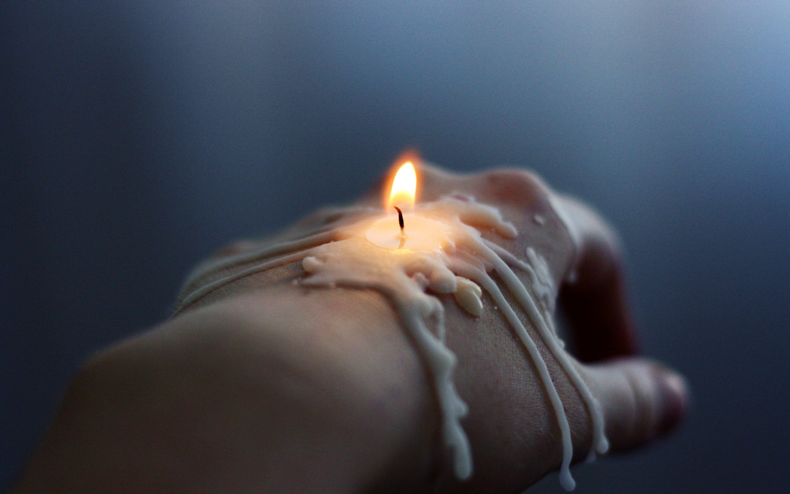 Candle on Hand