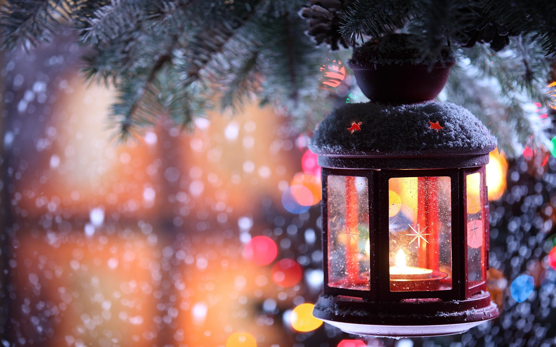 Candle snowfall