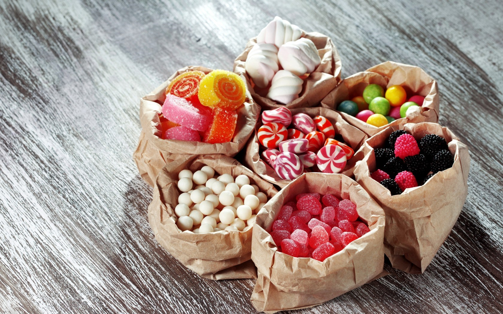 Candy Assorted Sweets Candies Jellies Marshmallows Bags