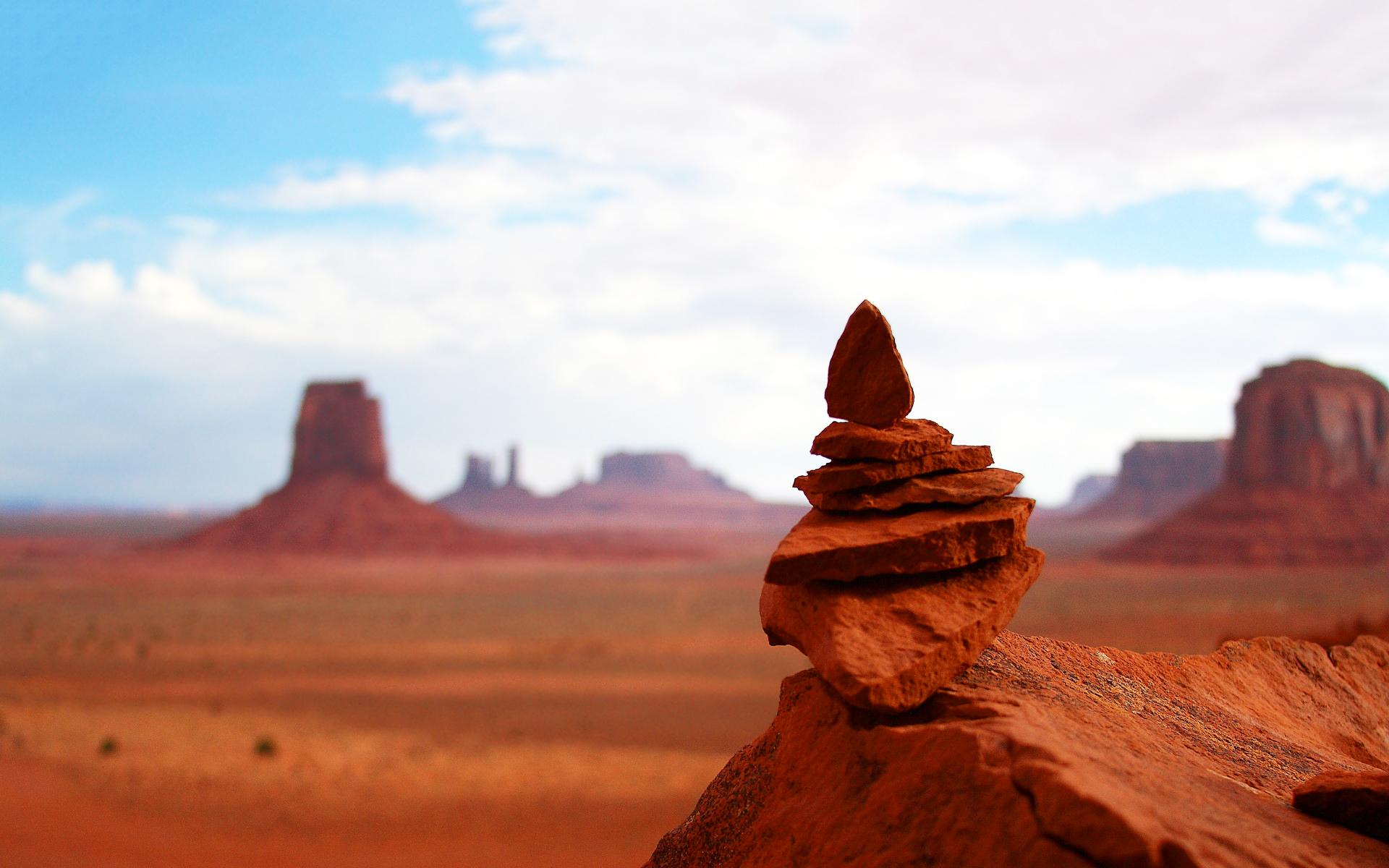 Canyon desert stones