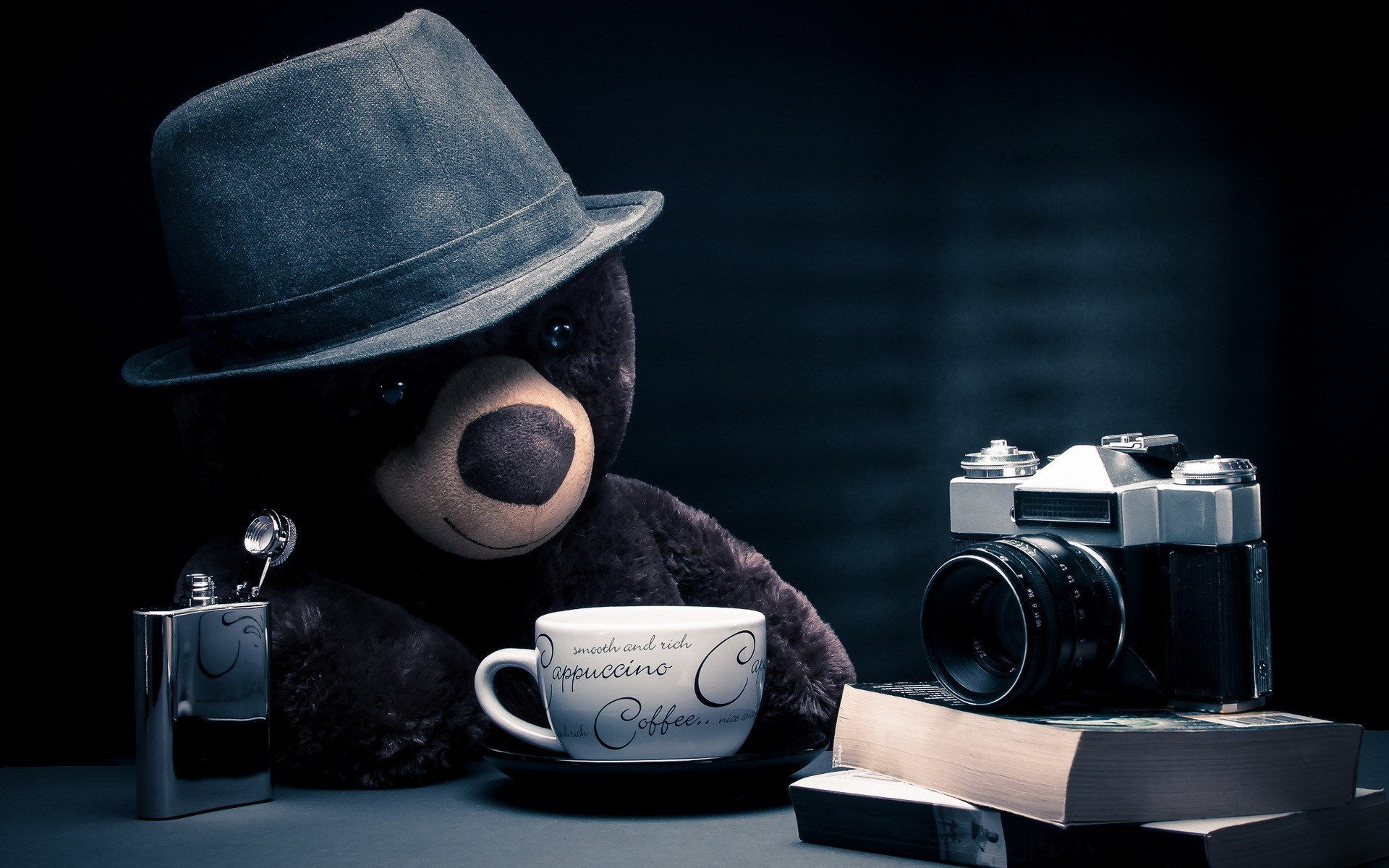 Cappuccino Coffee Camera Bear Toy