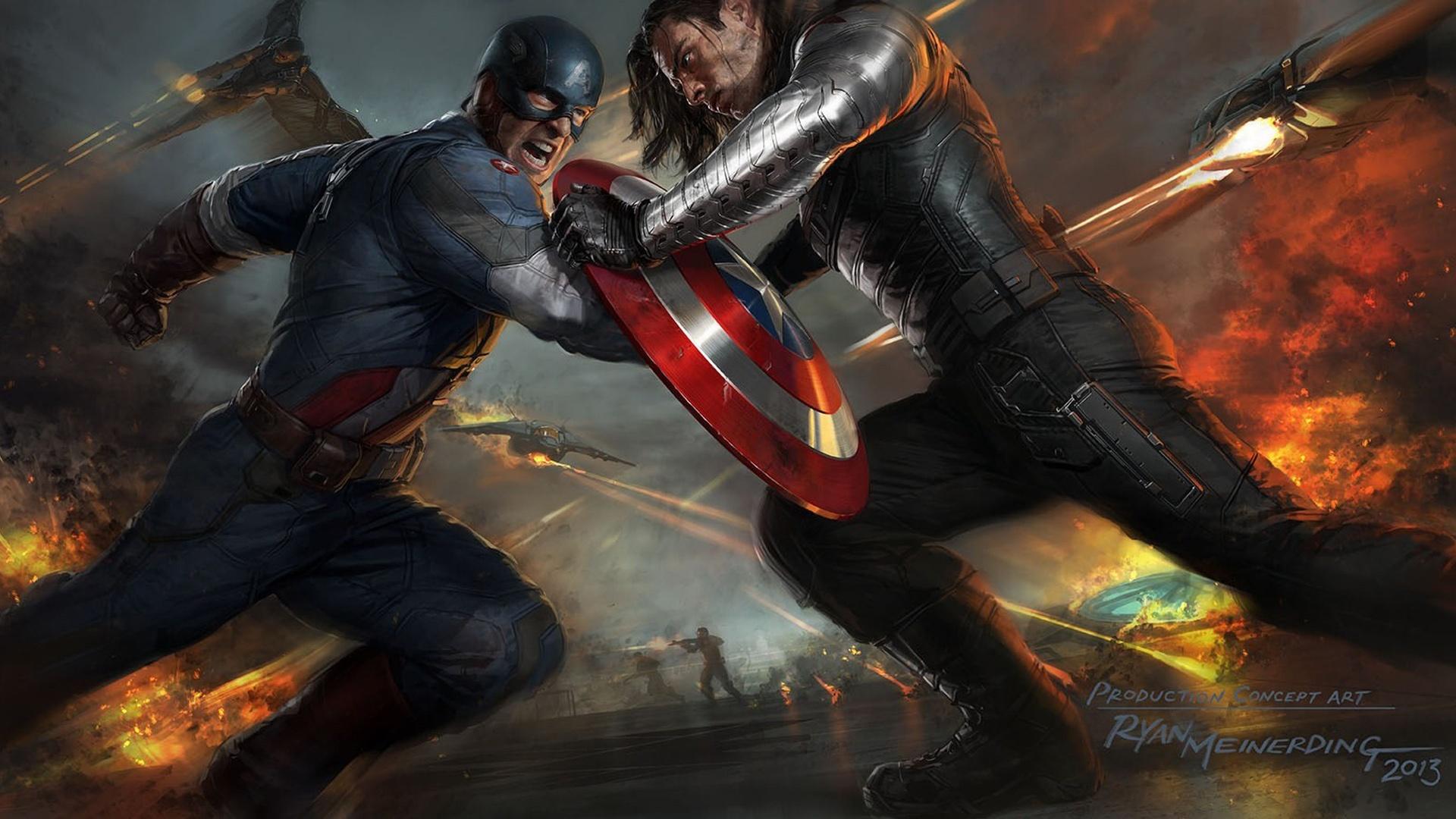 Captain america 2 art