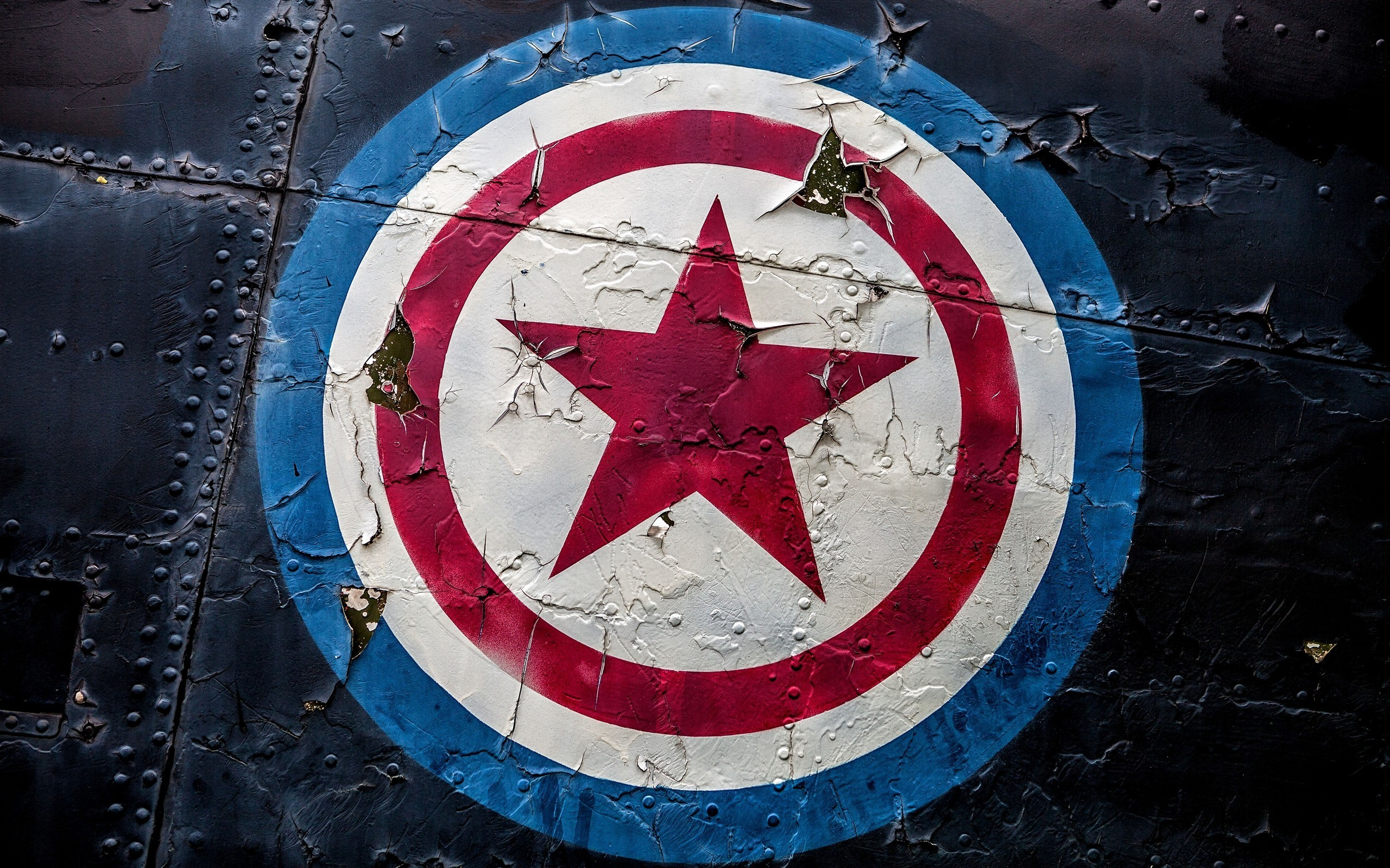 Captain America Shield Logo Art