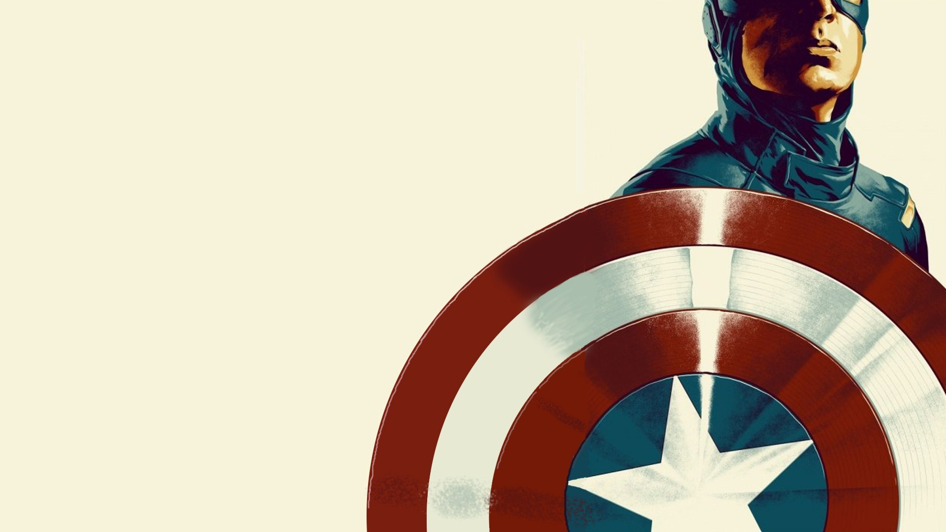 Captain America Shield Poster Art