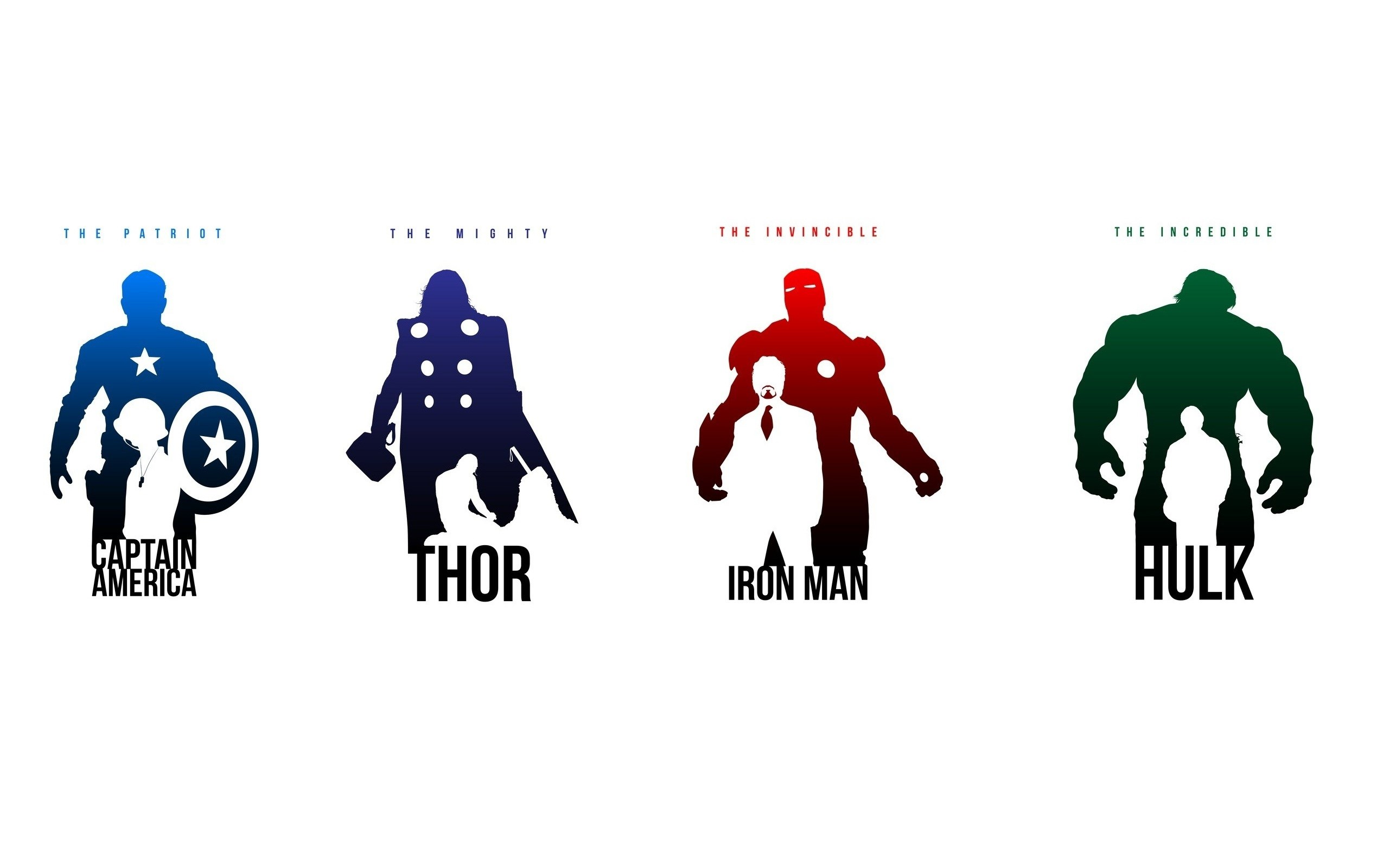 Captain America Thor Iron Man Hulk Art Poster