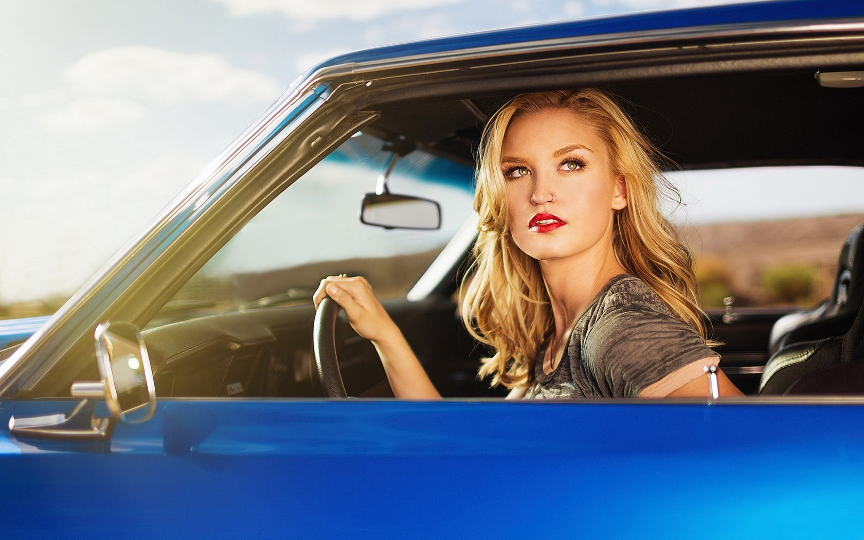 Car Beauty Blonde Girl