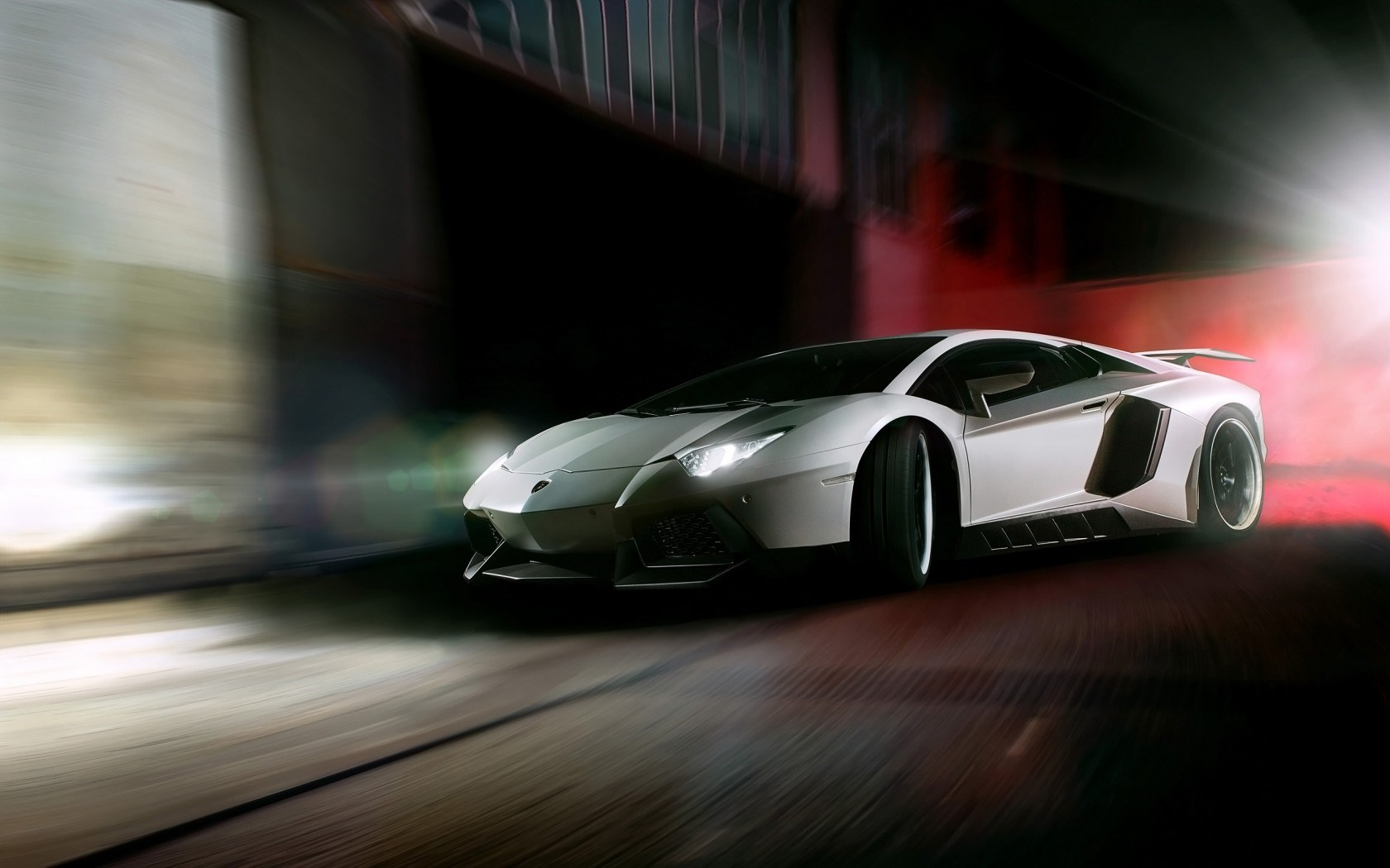 Car Lamborghini Aventador Lights