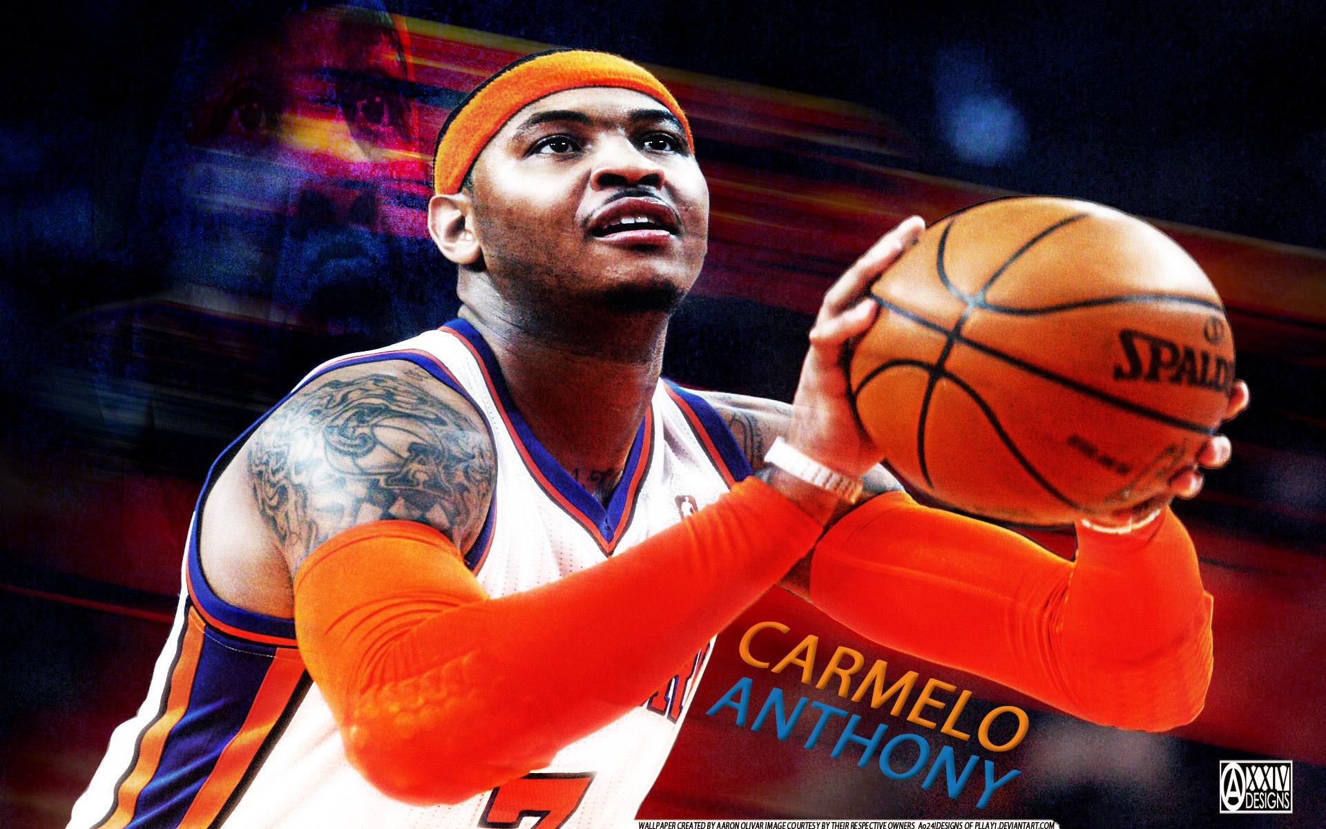 Carmelo Anthony Shoot Wallpaper