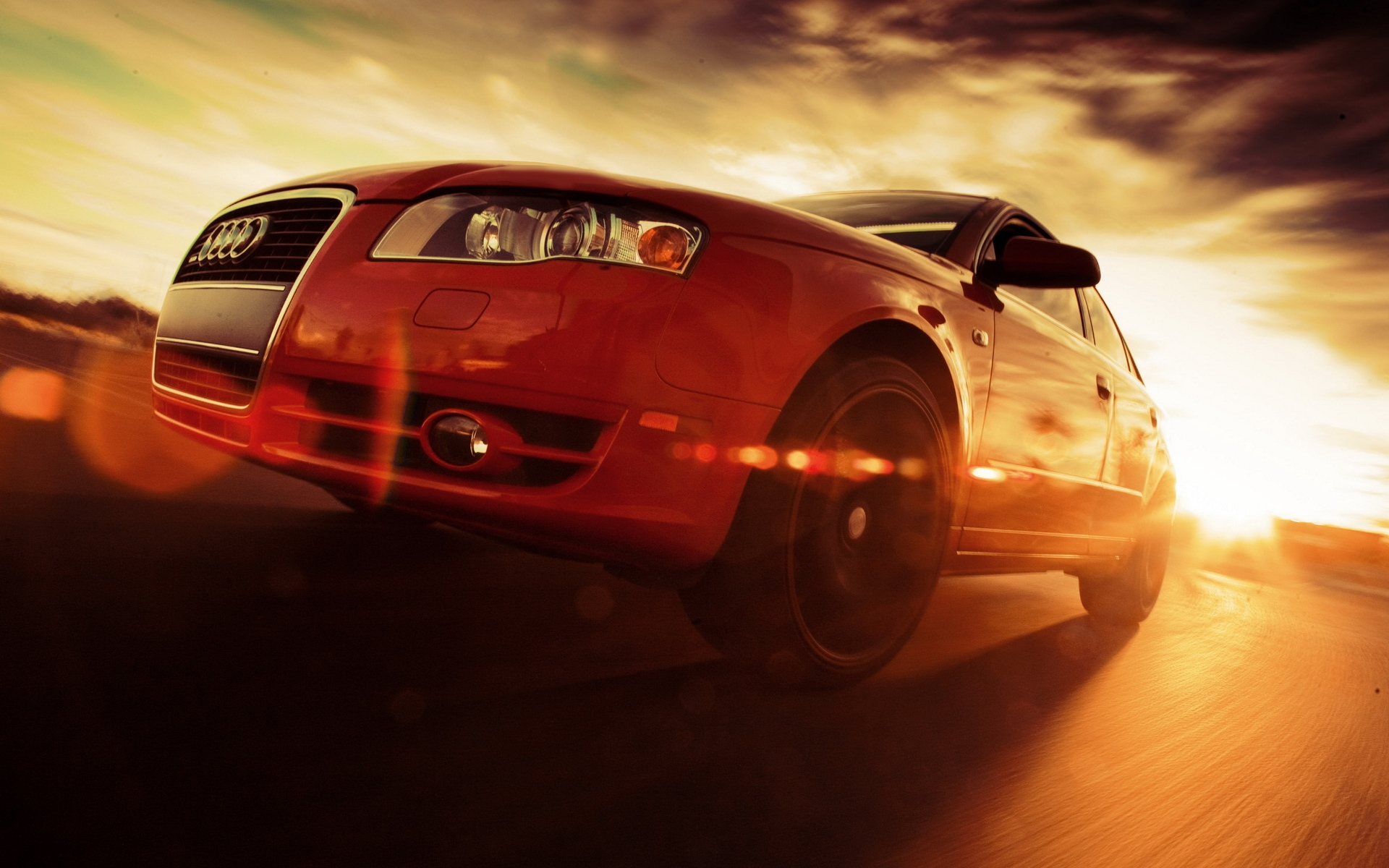 Red Audi Rs4 Close Up Speed HD Desktop wallpaper, images and photos