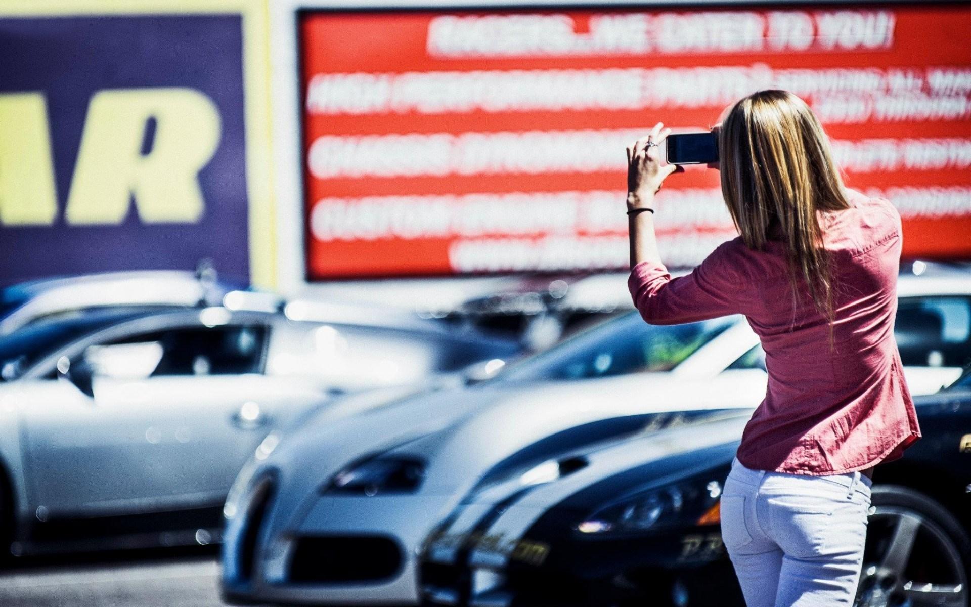 Cars Girl Mood Wallpaper