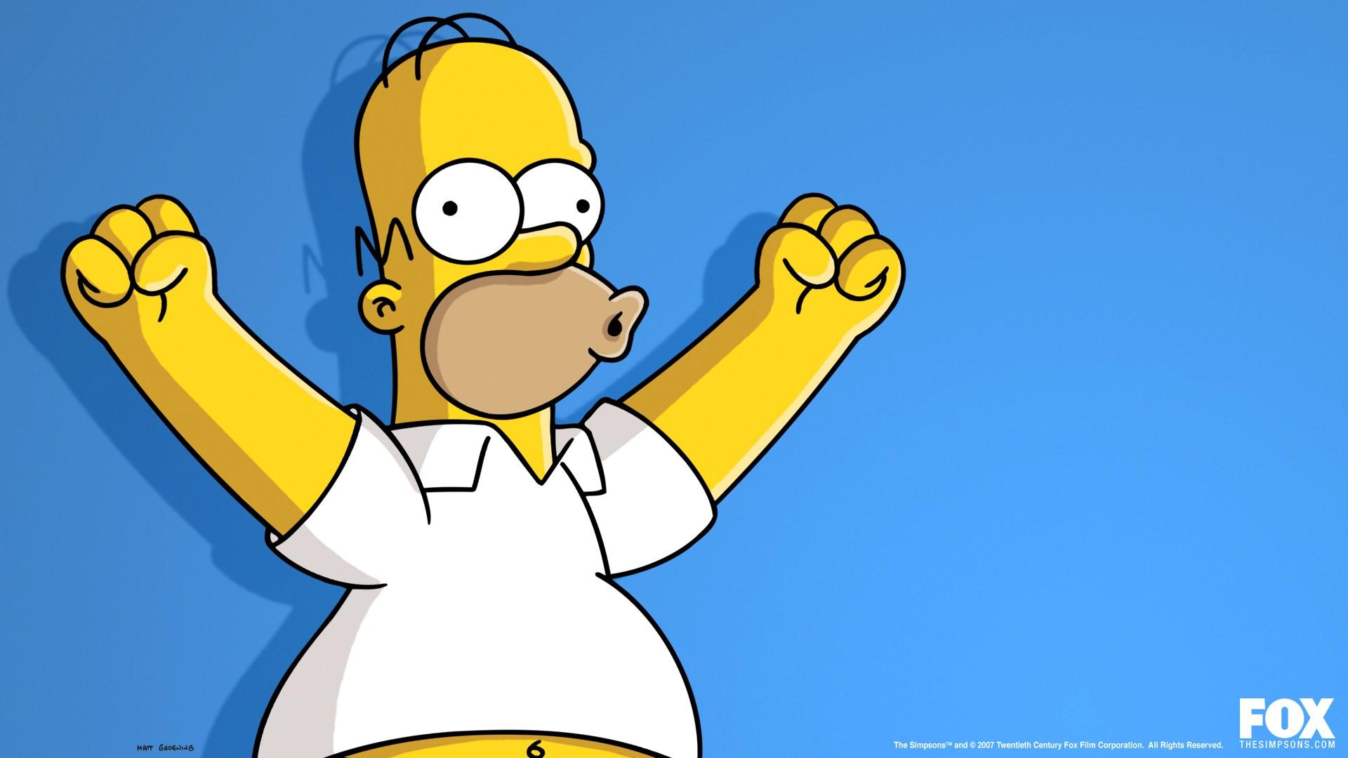 Cartoon The Simpsons Homer