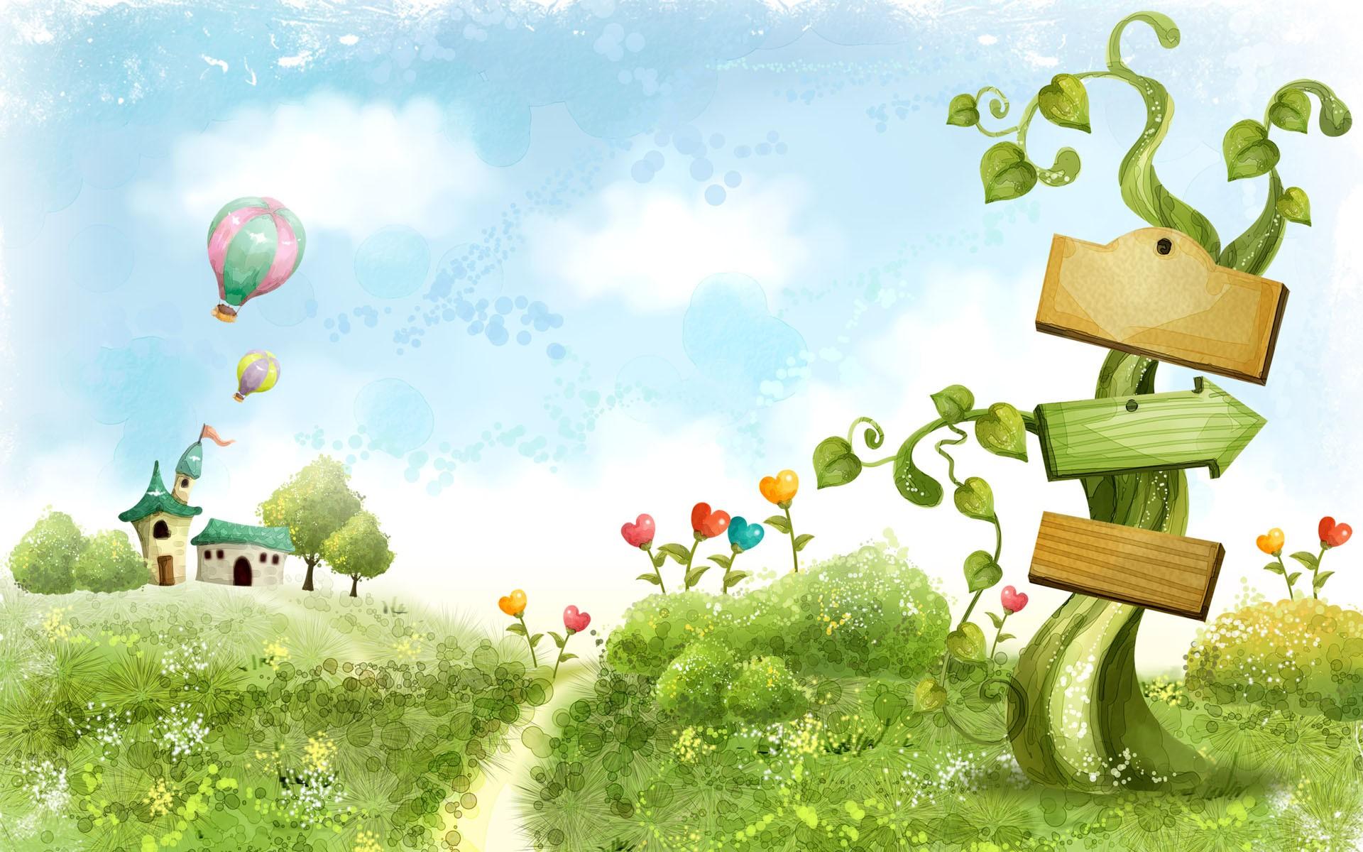Cartoon Nature Wallpaper