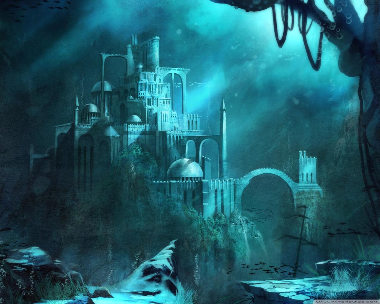 Castle Underwater Wallpaper
