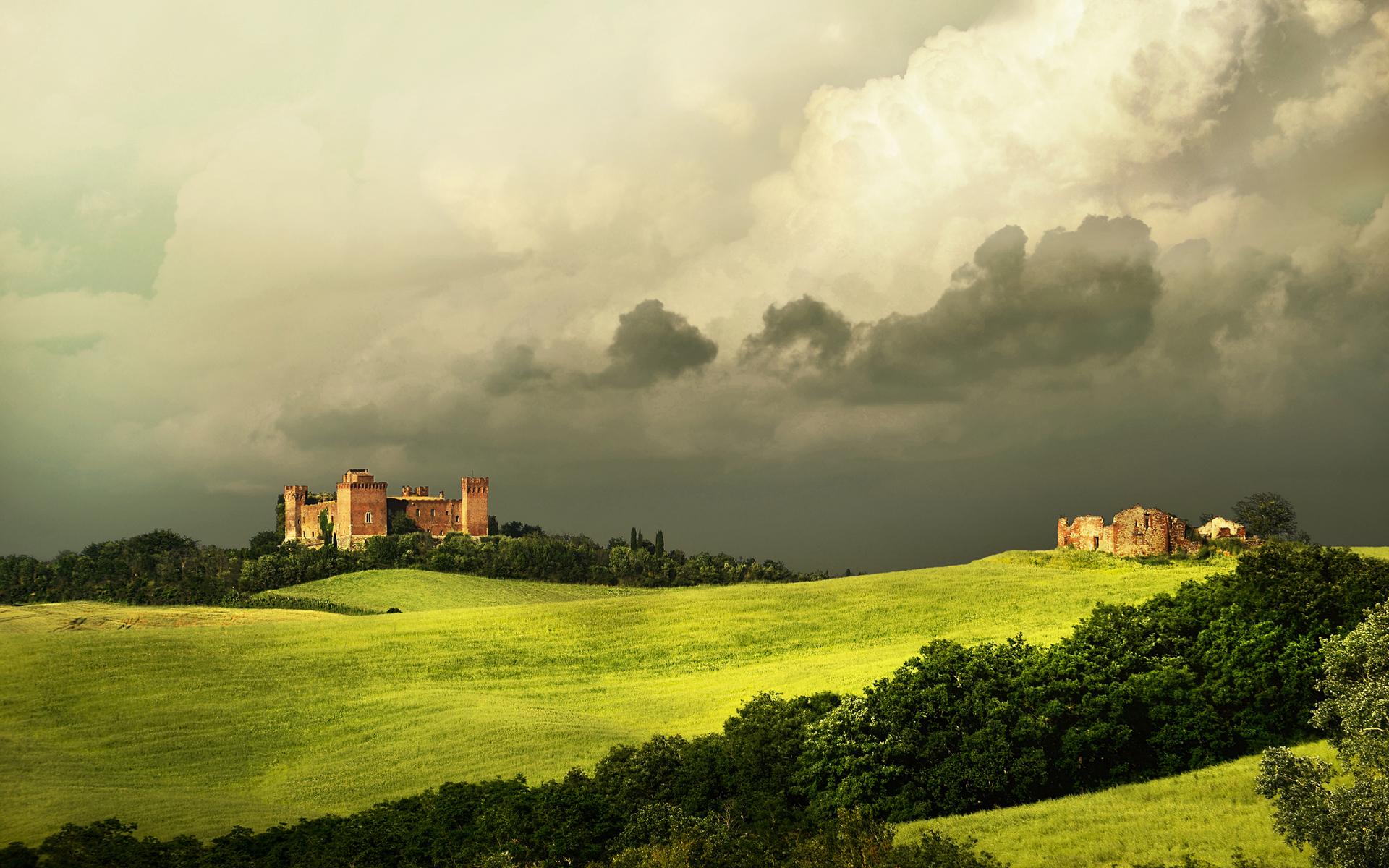 Castles cloudy landscape