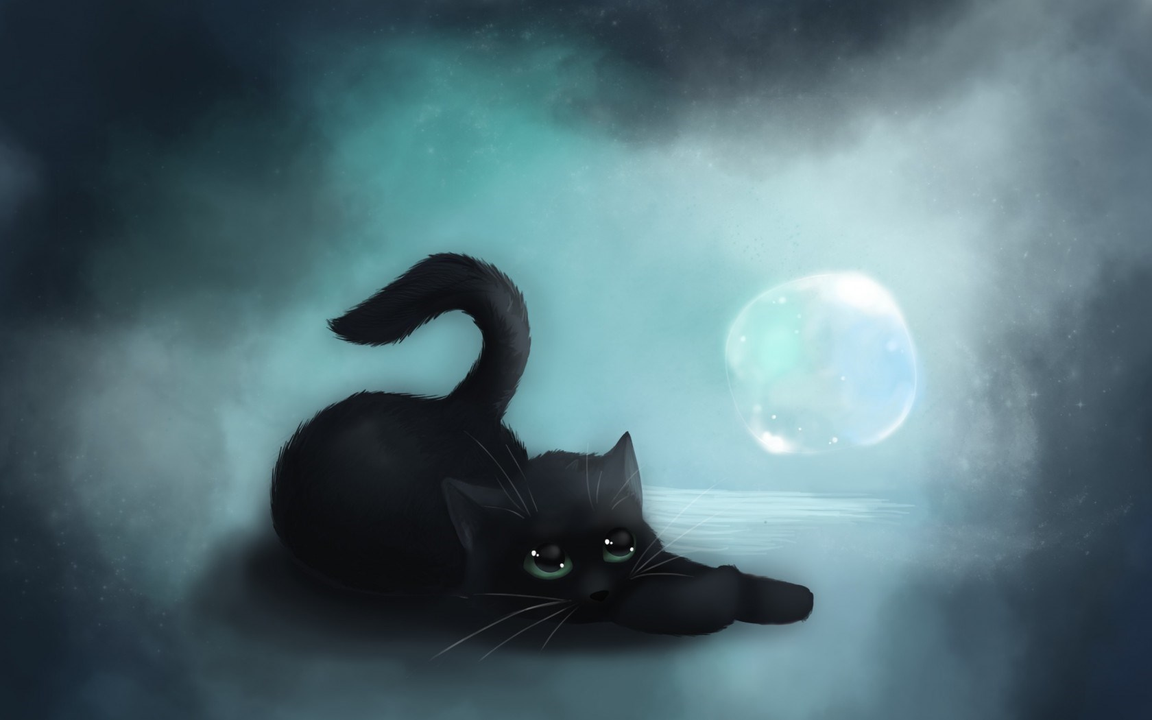 Cat Black Art