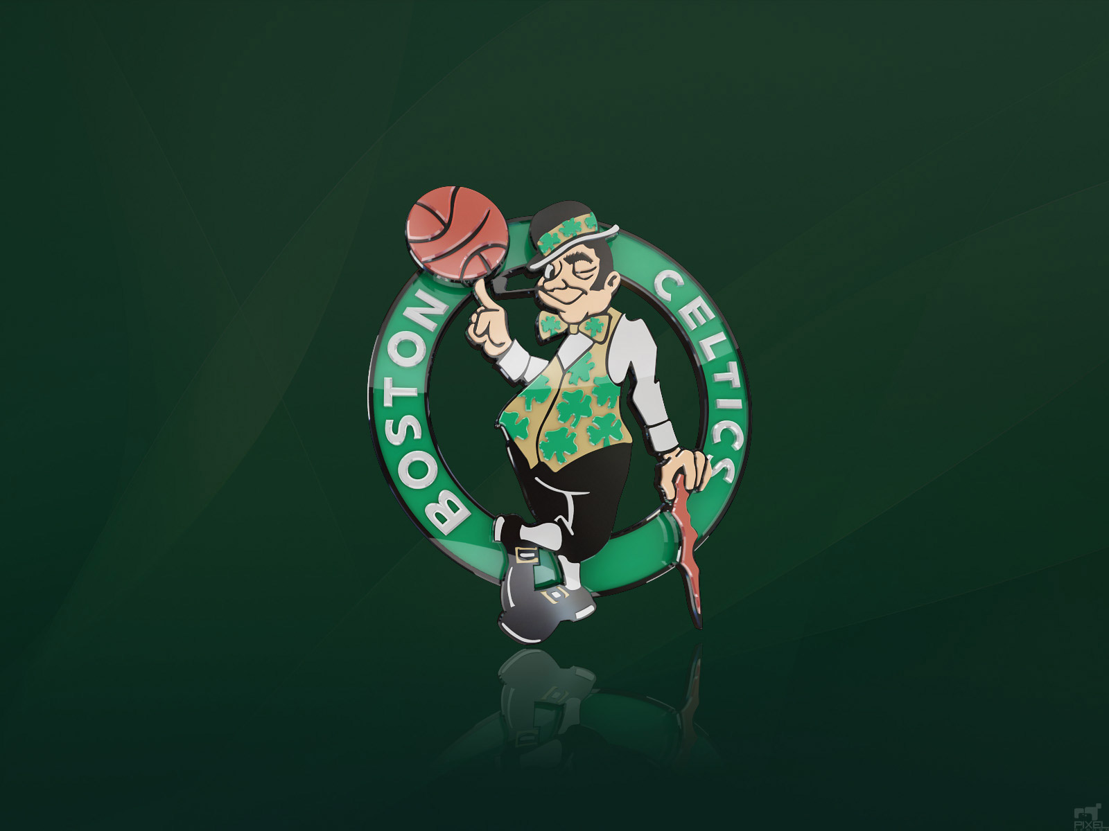 ... Boston Celtics 3D Logo Wallpaper ...