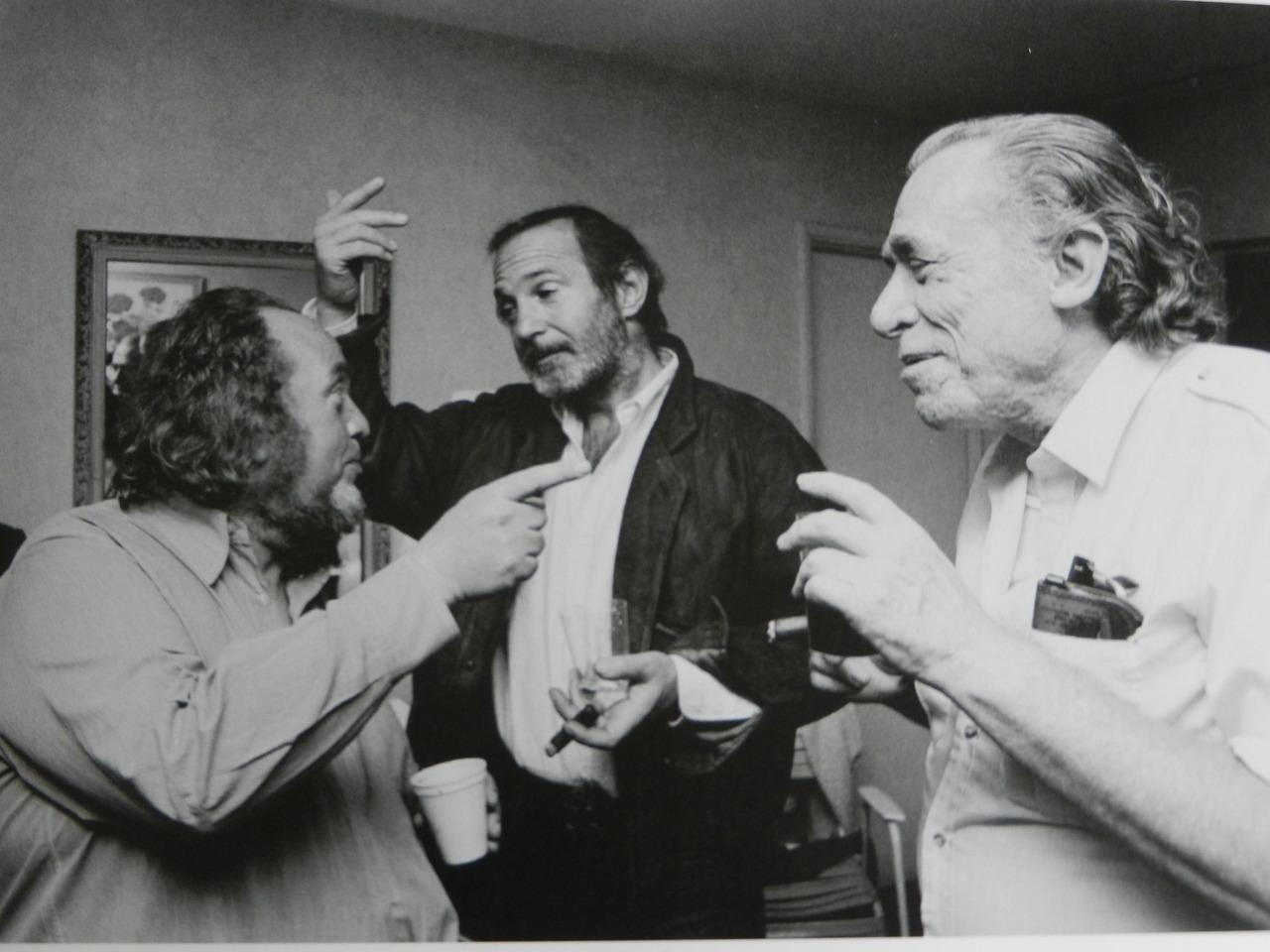 Ben Gazzara, Charles Bukowski y Marco Ferreri Ferreri,Gazzarra & Bukowski