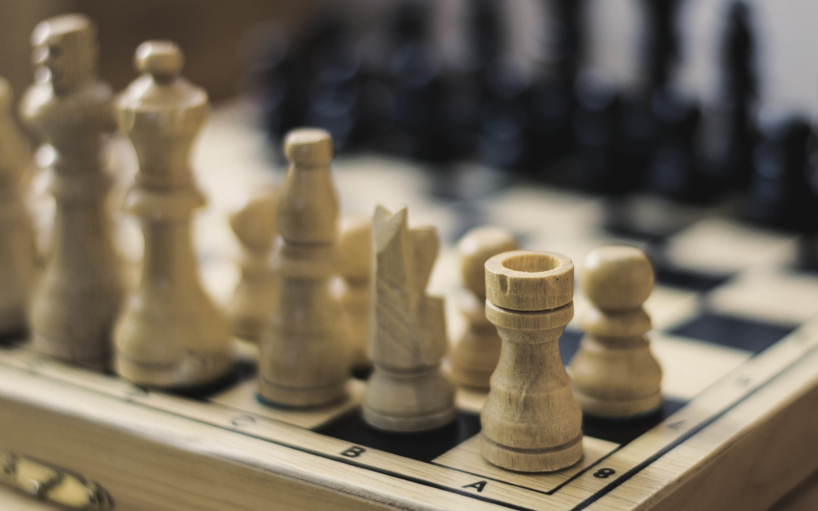 Chess Pieces Game Board