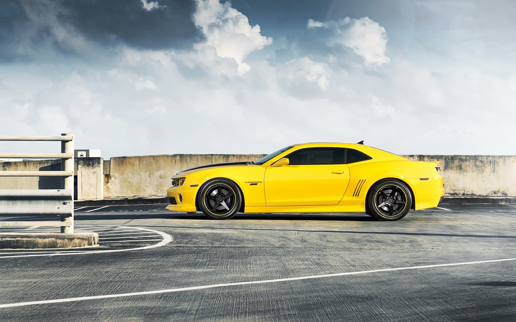 Chevrolet Camaro RS Yellow Car