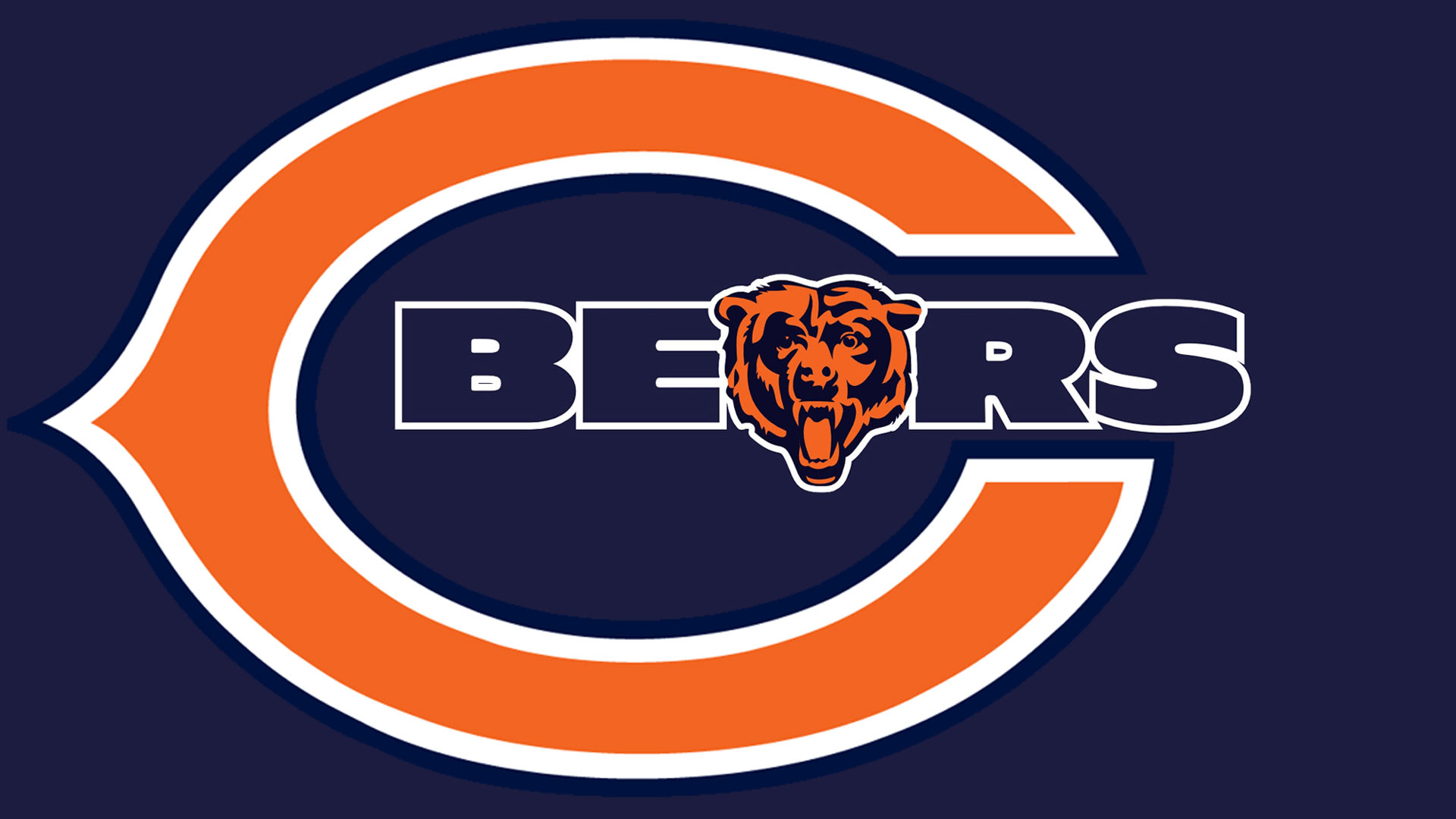Chicago Bears logo Hd 1080p high quality Wallpaper screen size 1920X1080