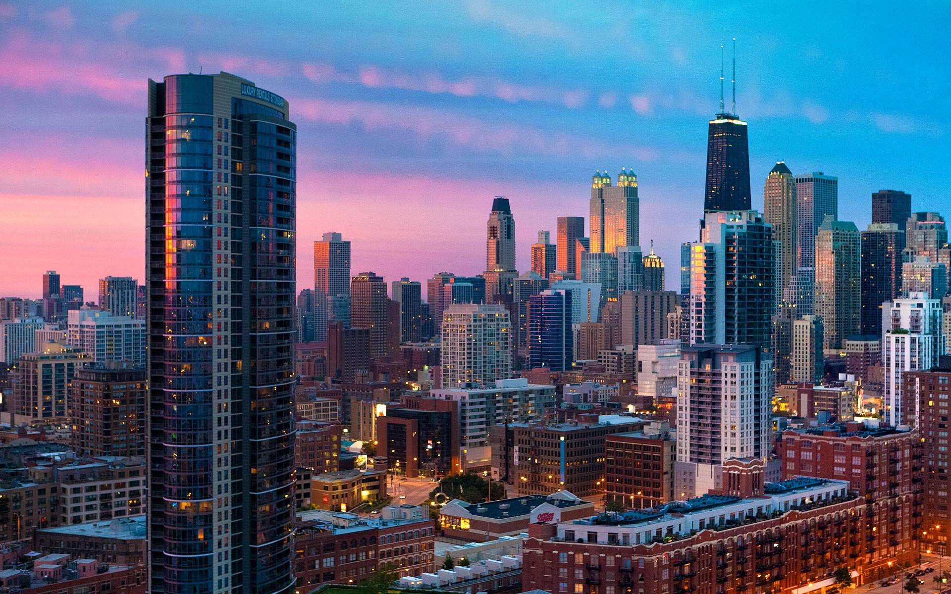 Chicago Cityscape, Illinois, USA