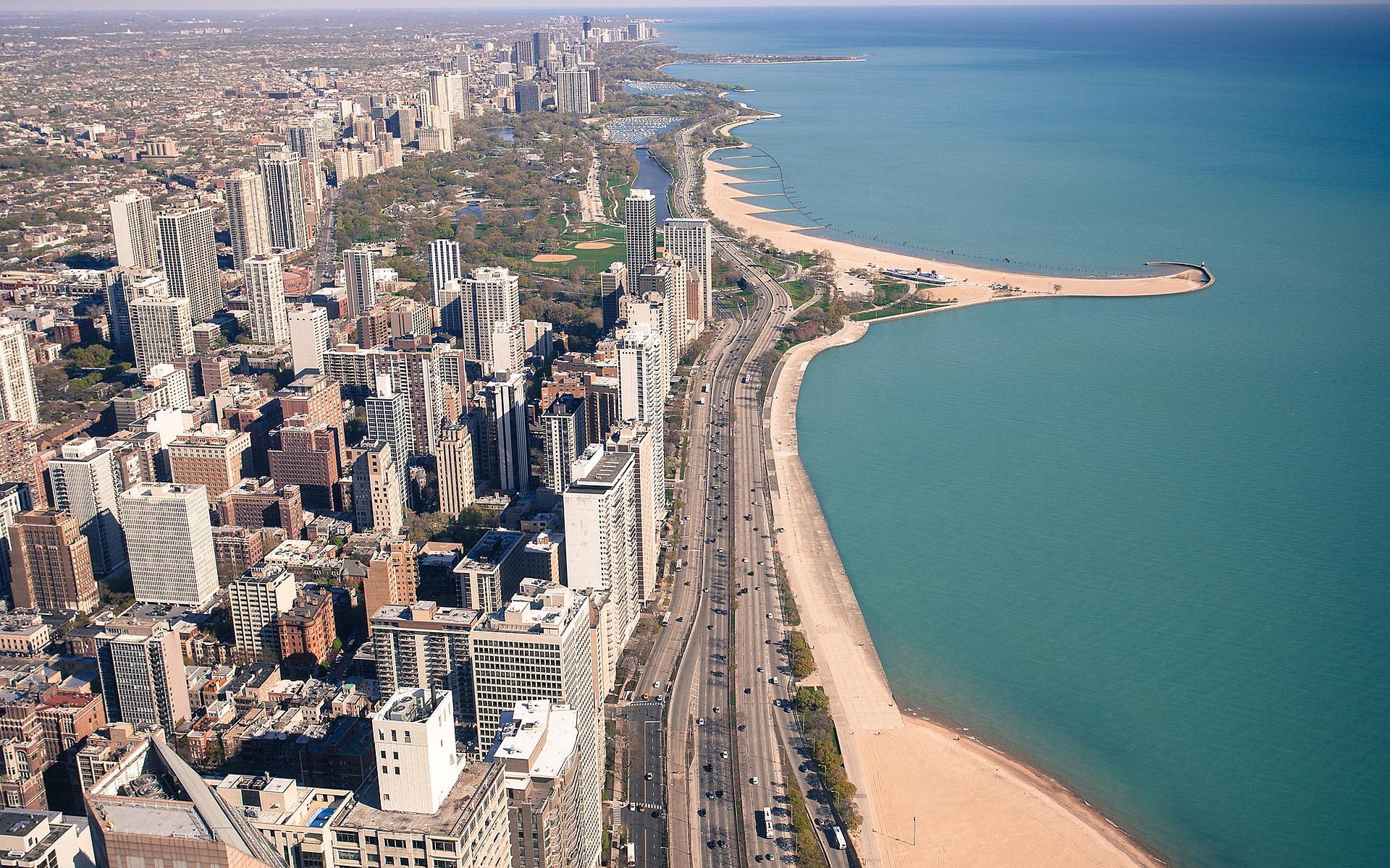 Chicago coast view