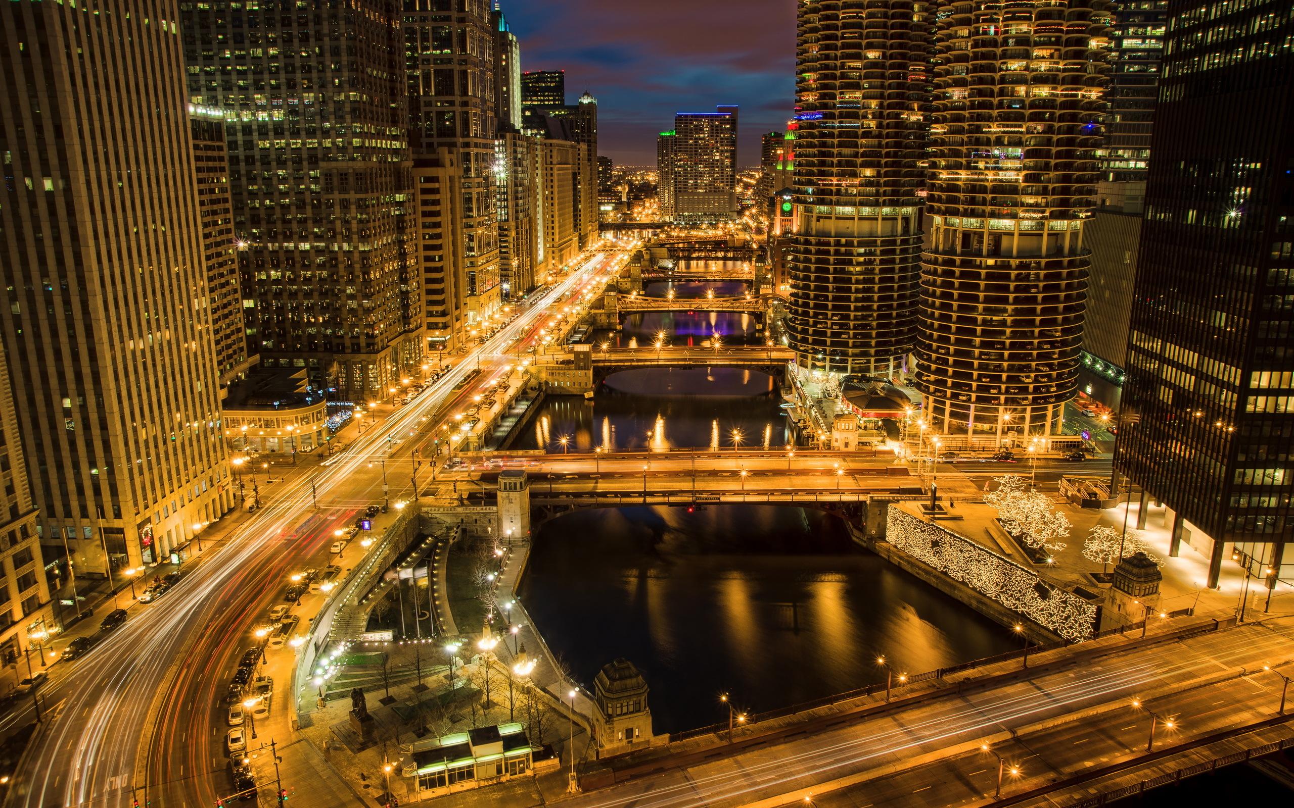 Chicago night lights