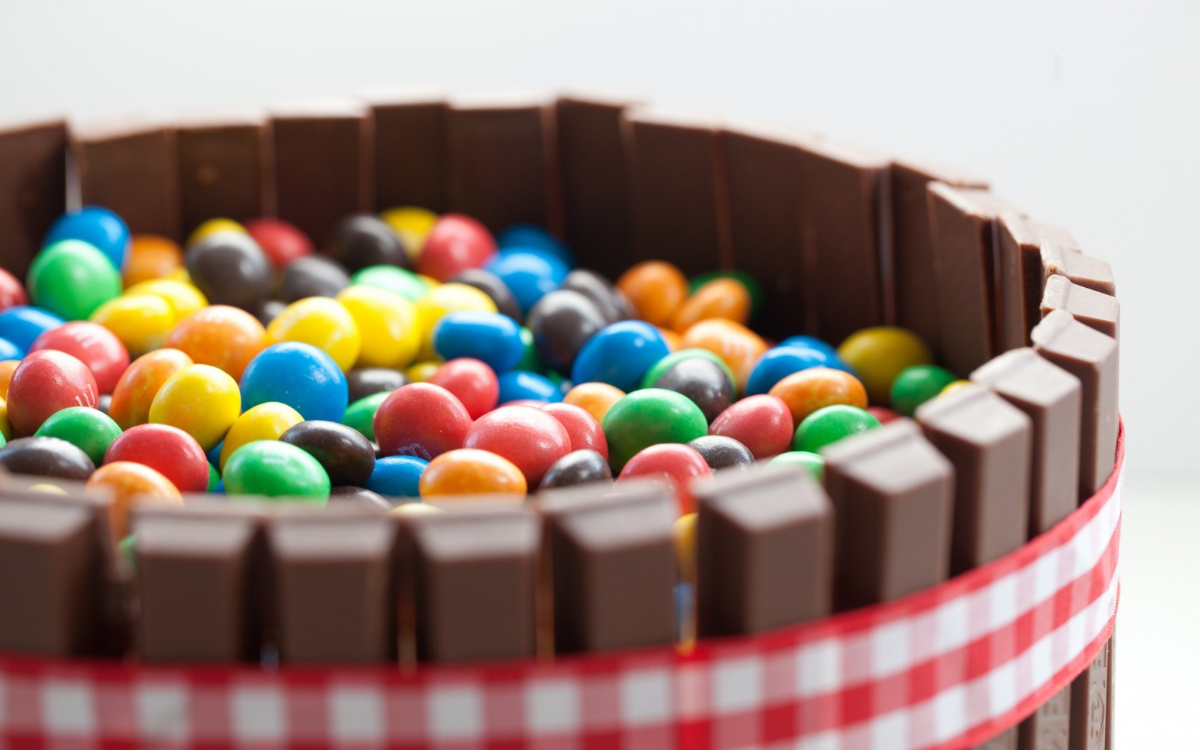 Chocolate Candy Colorful Basket