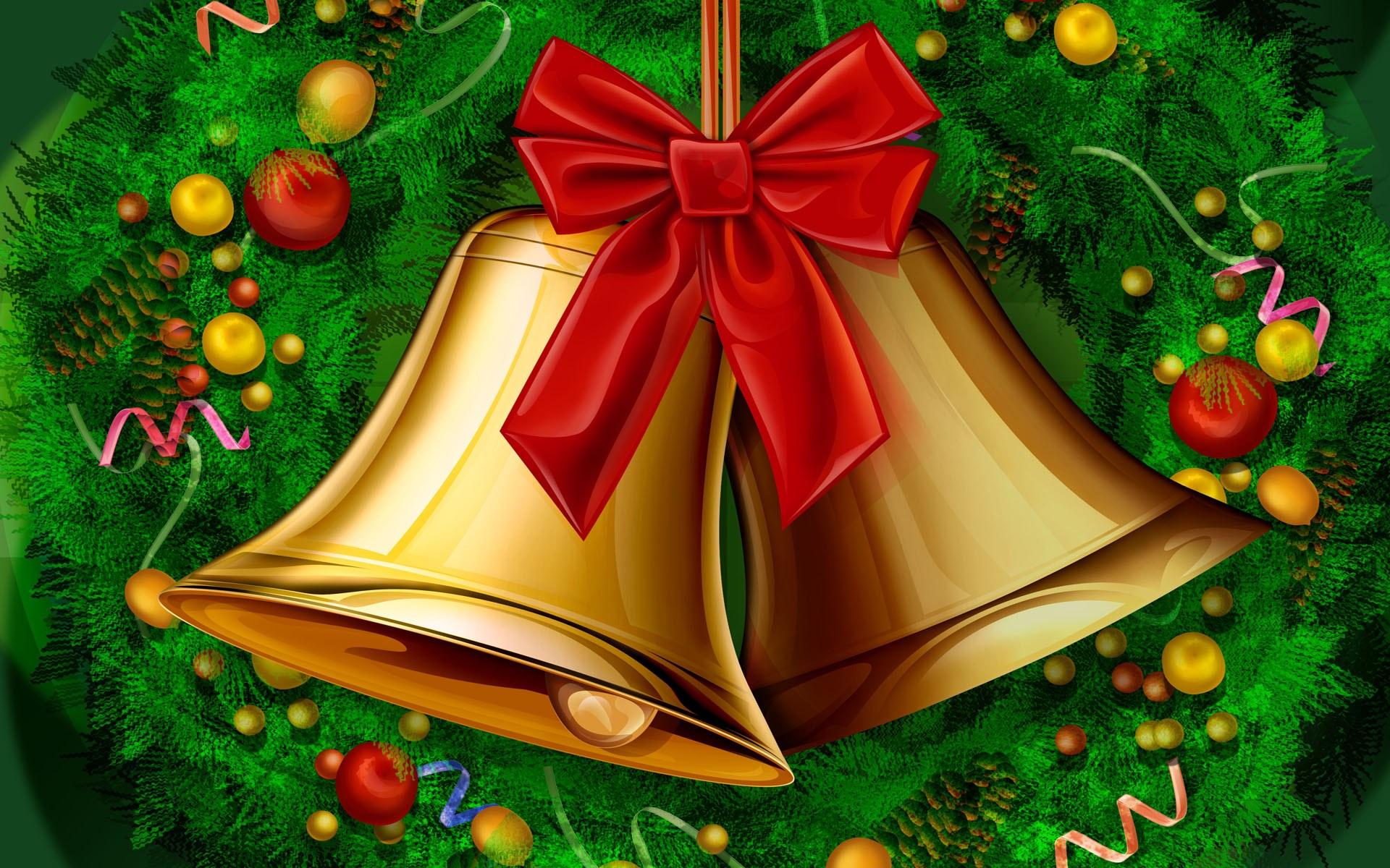 HD Wallpapers 22 19 *1 0 Shinging Christmas Bell - Festive Christmas CG