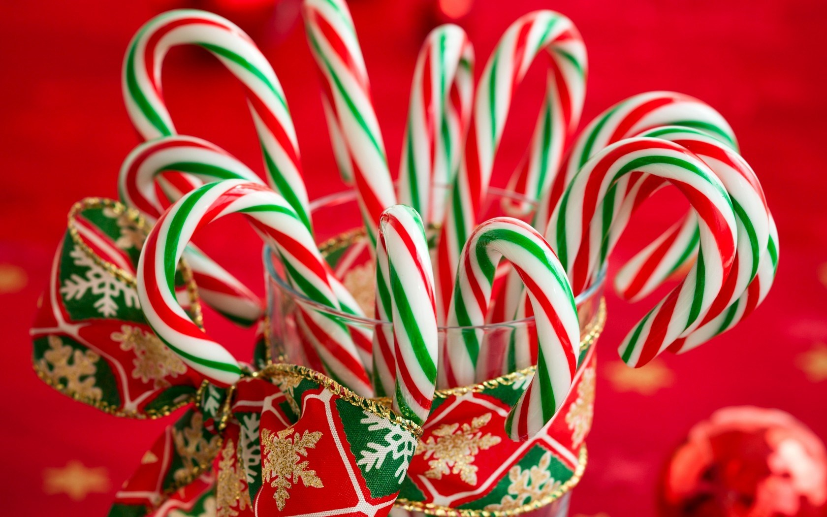 Candy Canes Striped Christmas New Year Holiday