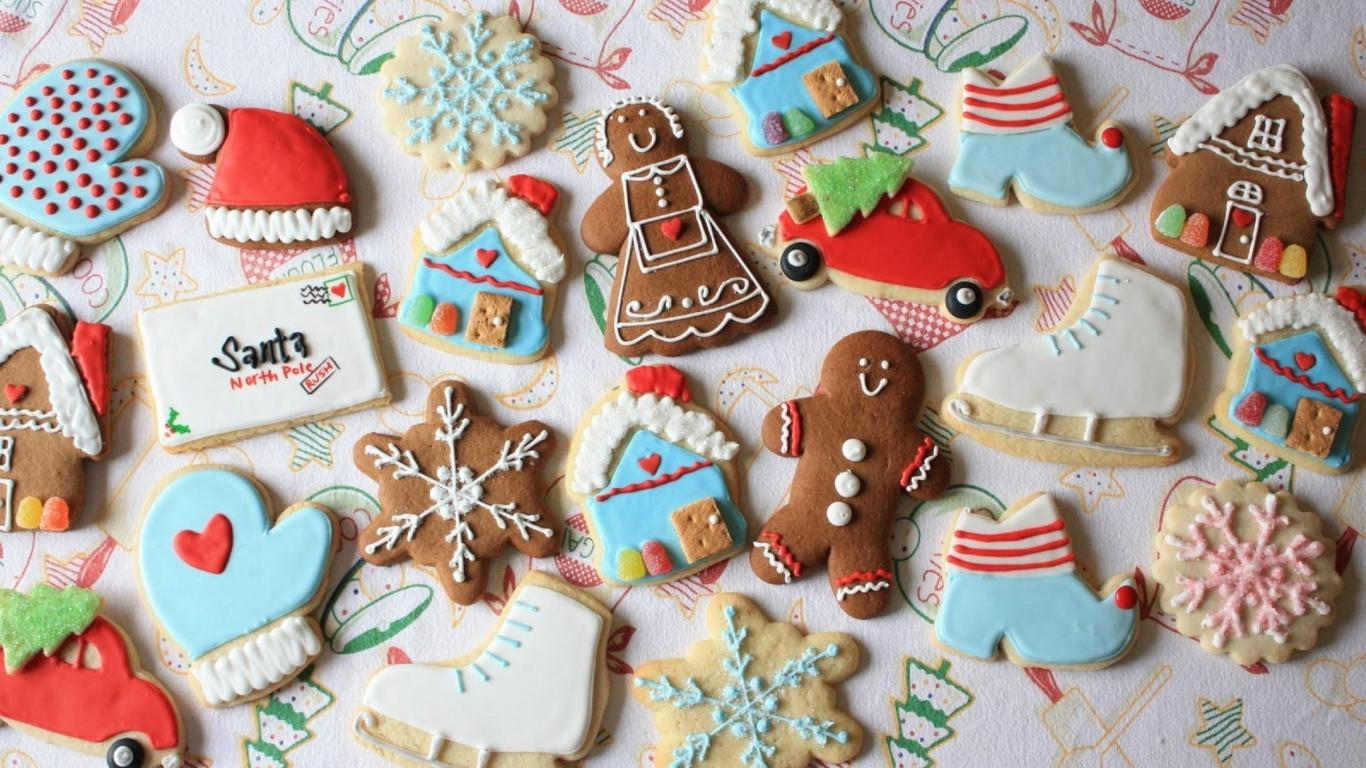 christmas cookies wallpaper | 1366x768 | #66890