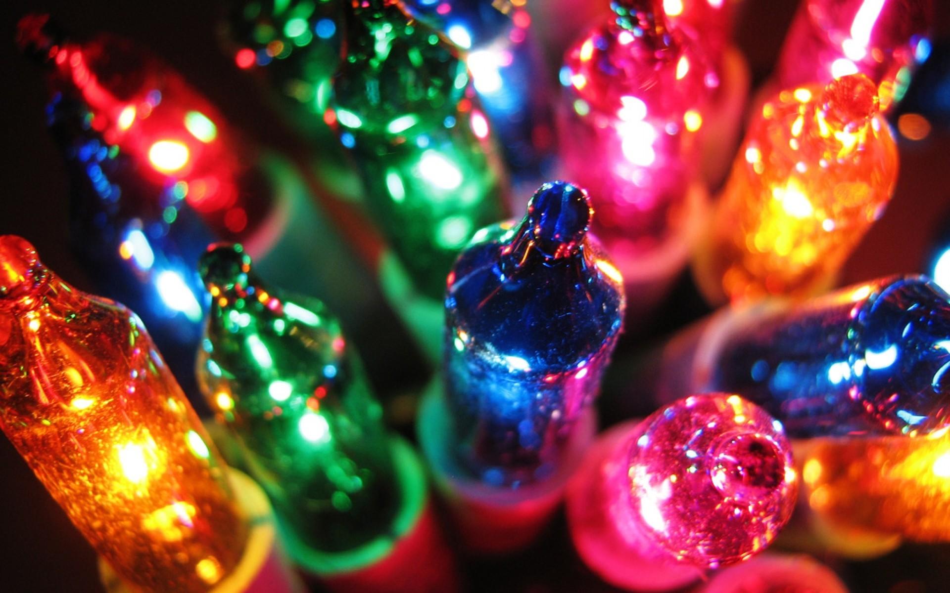 Colorful Christmas Lights Wallpaper