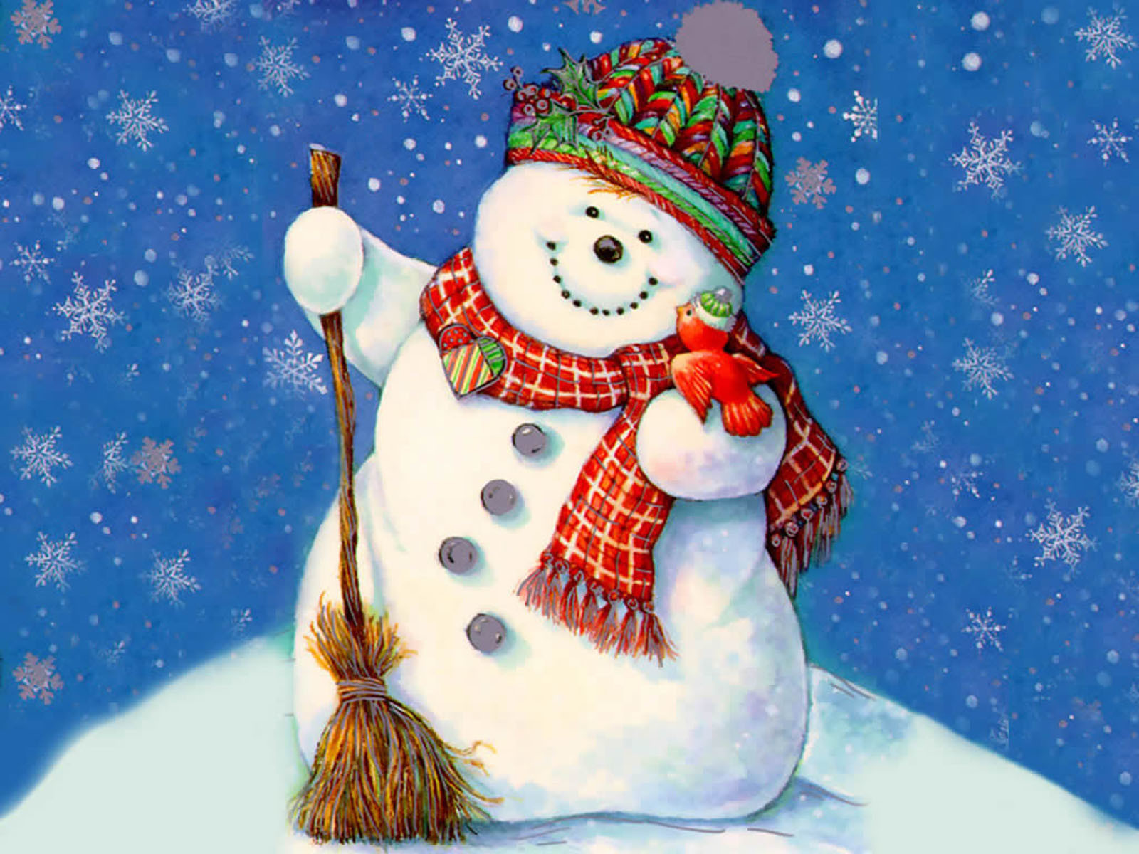 View And Download Christmas Snowman Wallpapers ...
