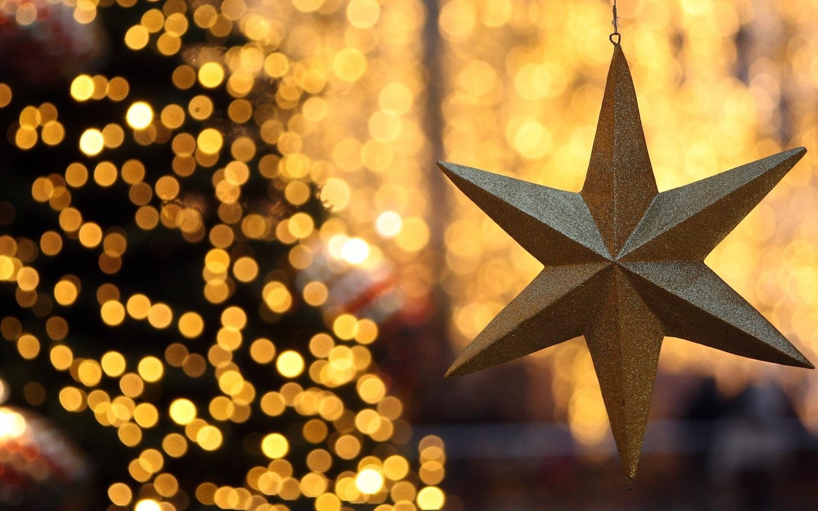 Christmas Tree Lights Star New Year