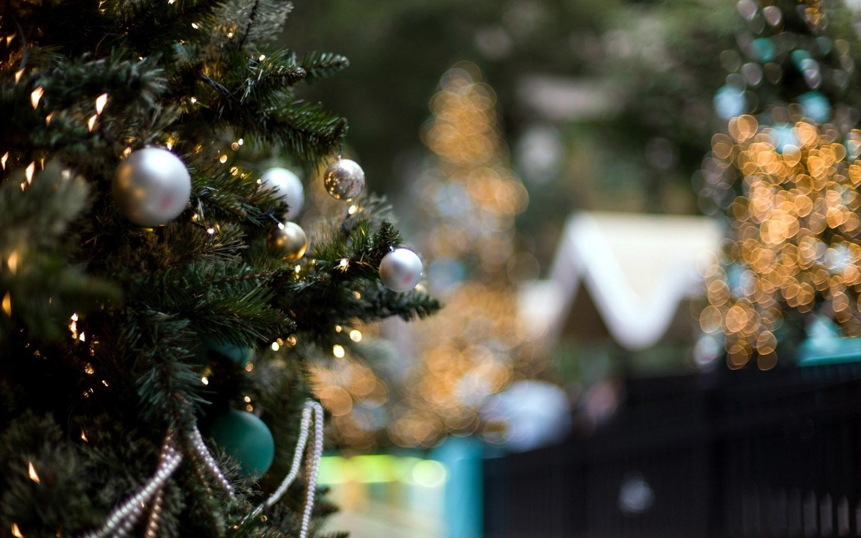 Christmas Tree Winter Lights New Year