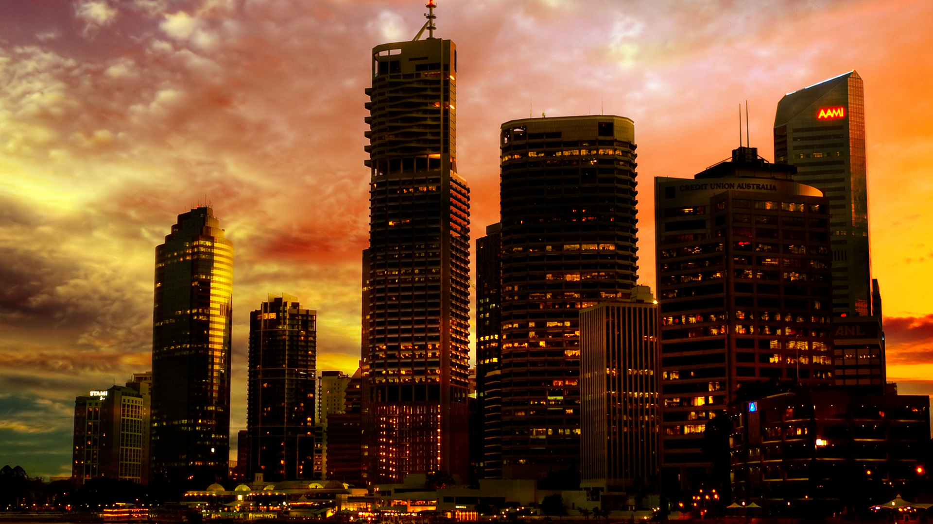 Sunset City Backgrounds - HD Wallpapers