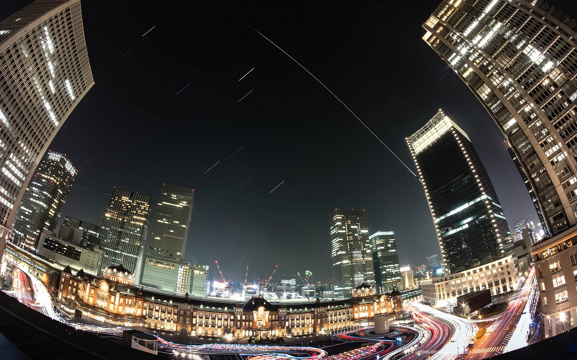 City fisheye timeline view