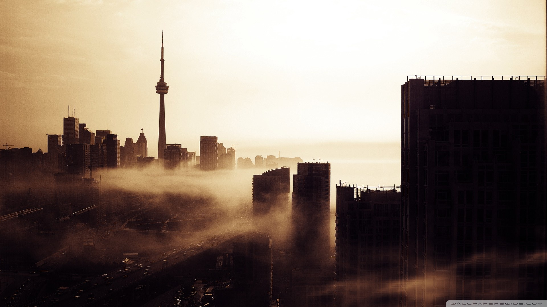 City Fog Wallpaper
