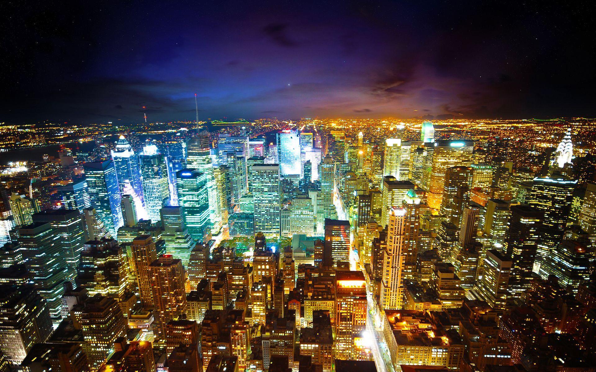 City Light New York Skyline wallpaper.